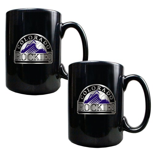 Colorado Rockies 15oz. Coffee Mug Set - Black