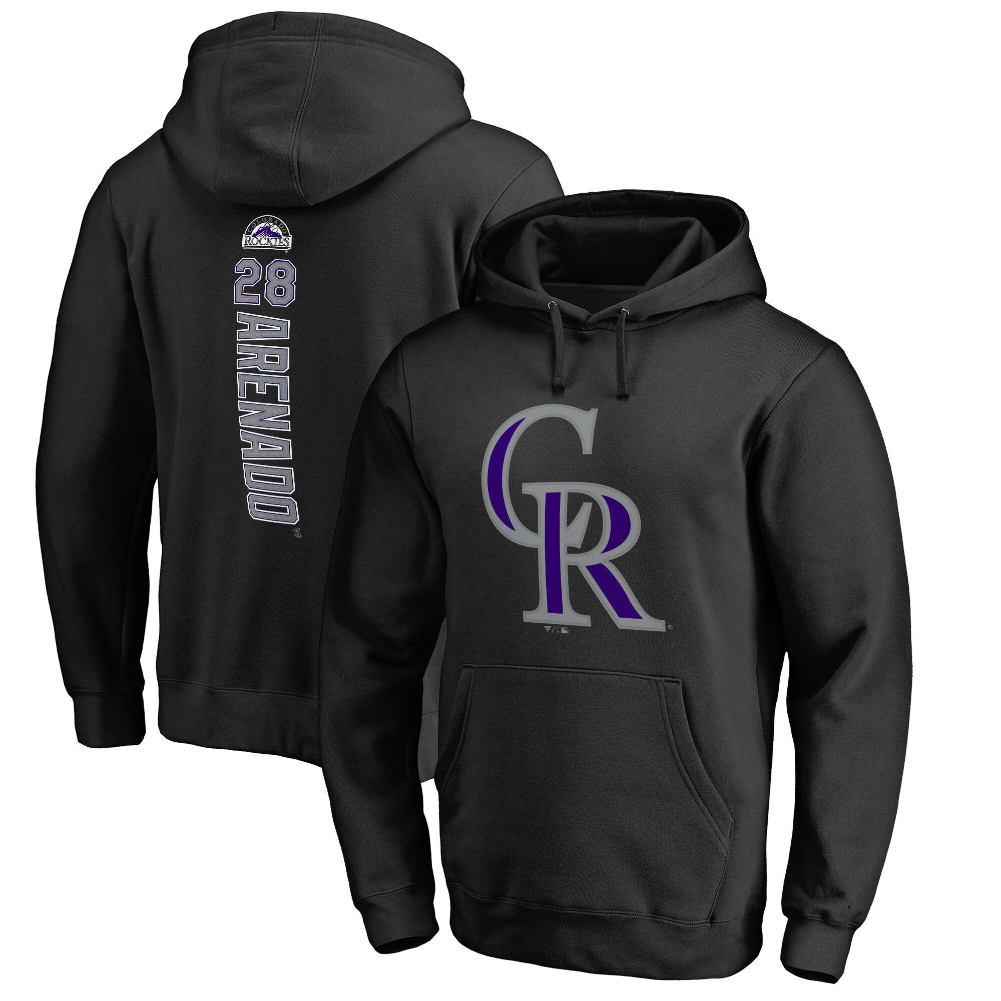 Nolan Arenado Colorado Rockies Fanatics Branded Backer Pullover Hoodie - Black