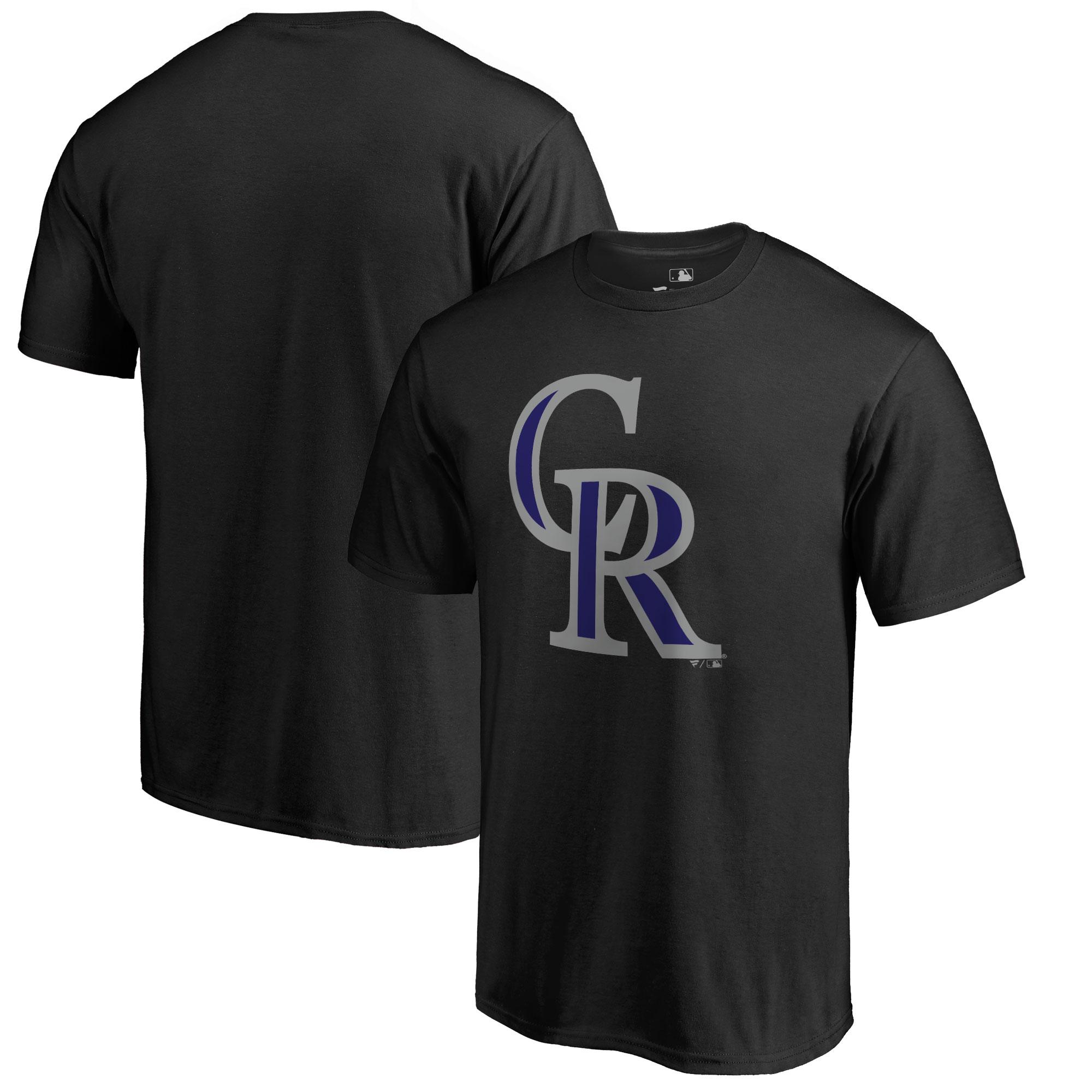 Colorado Rockies Big & Tall Primary Team Logo T-Shirt - Black