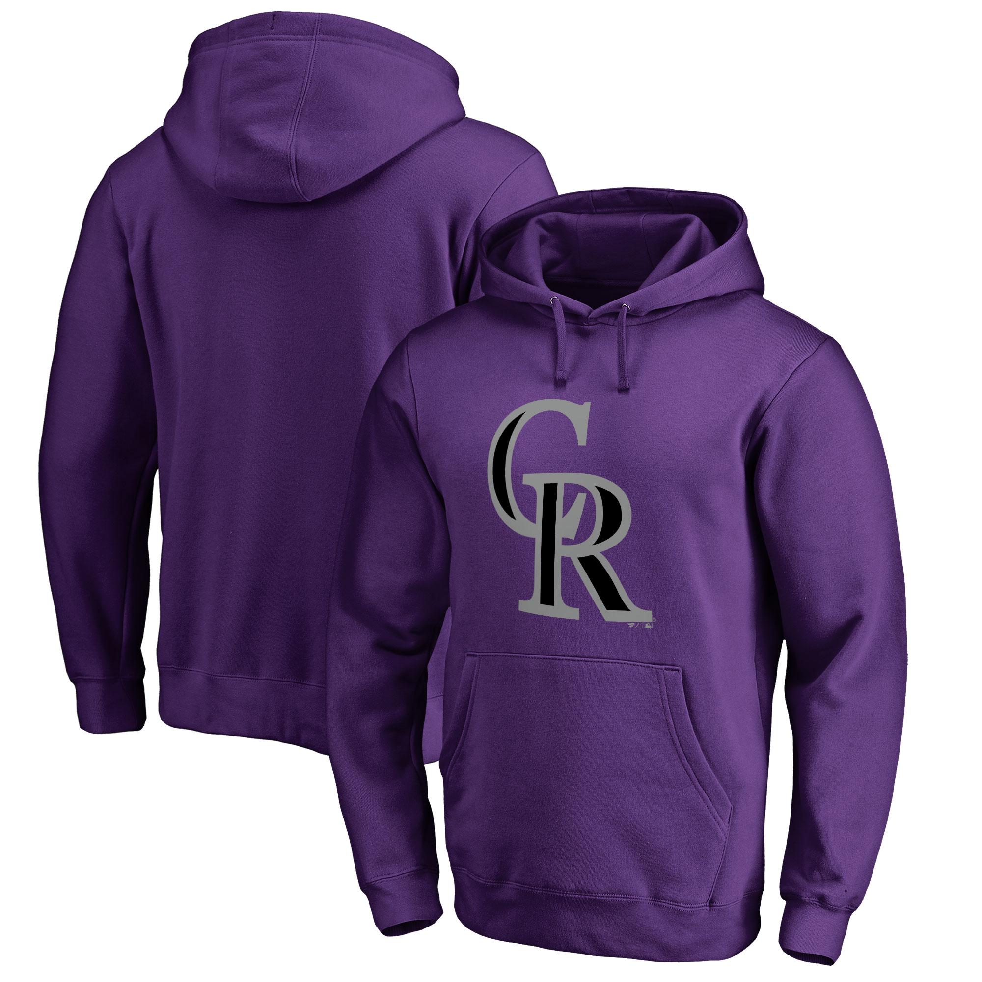 Colorado Rockies Big & Tall Primary Team Logo Pullover Hoodie - Purple