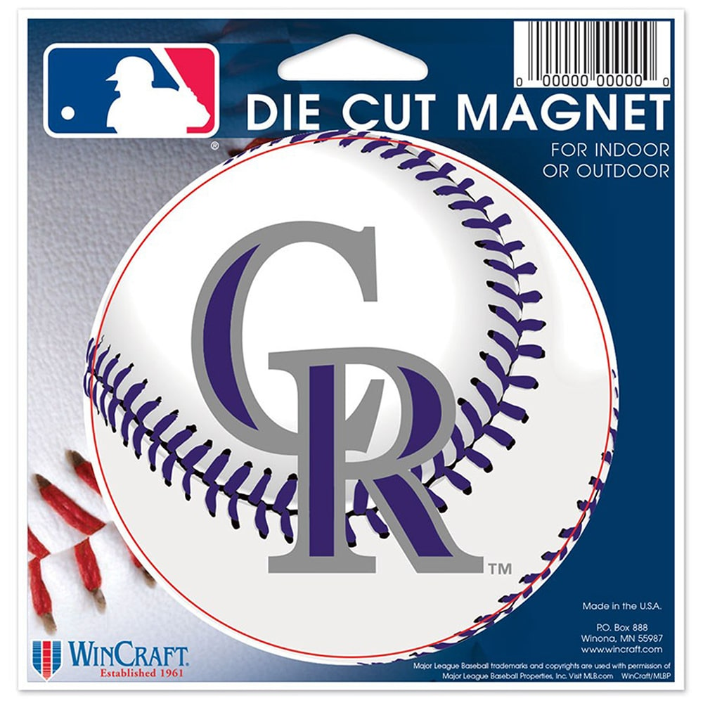 "Colorado Rockies WinCraft 5"" Die-Cut Car Magnet"