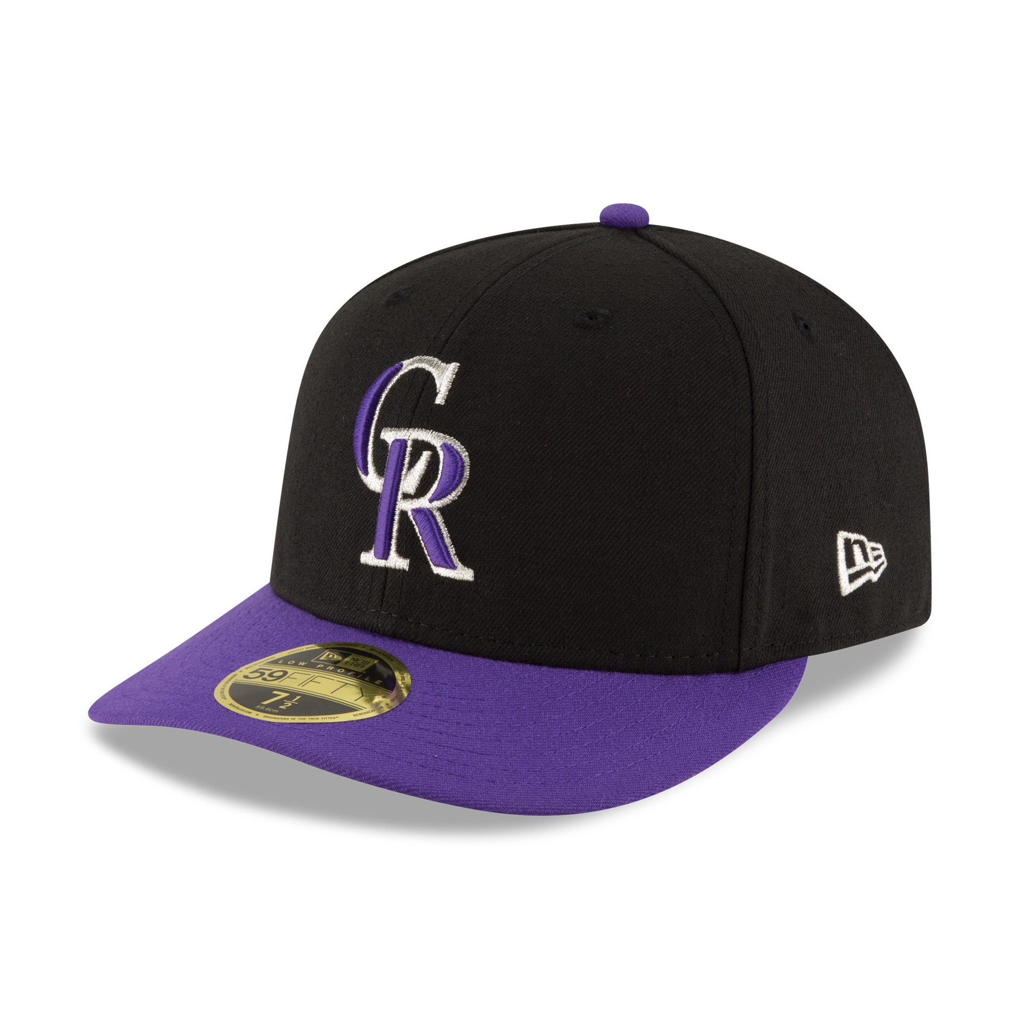 Colorado Rockies New Era Alternate Authentic Collection On-Field Low Profile 59FIFTY Fitted Hat - Black/Purple