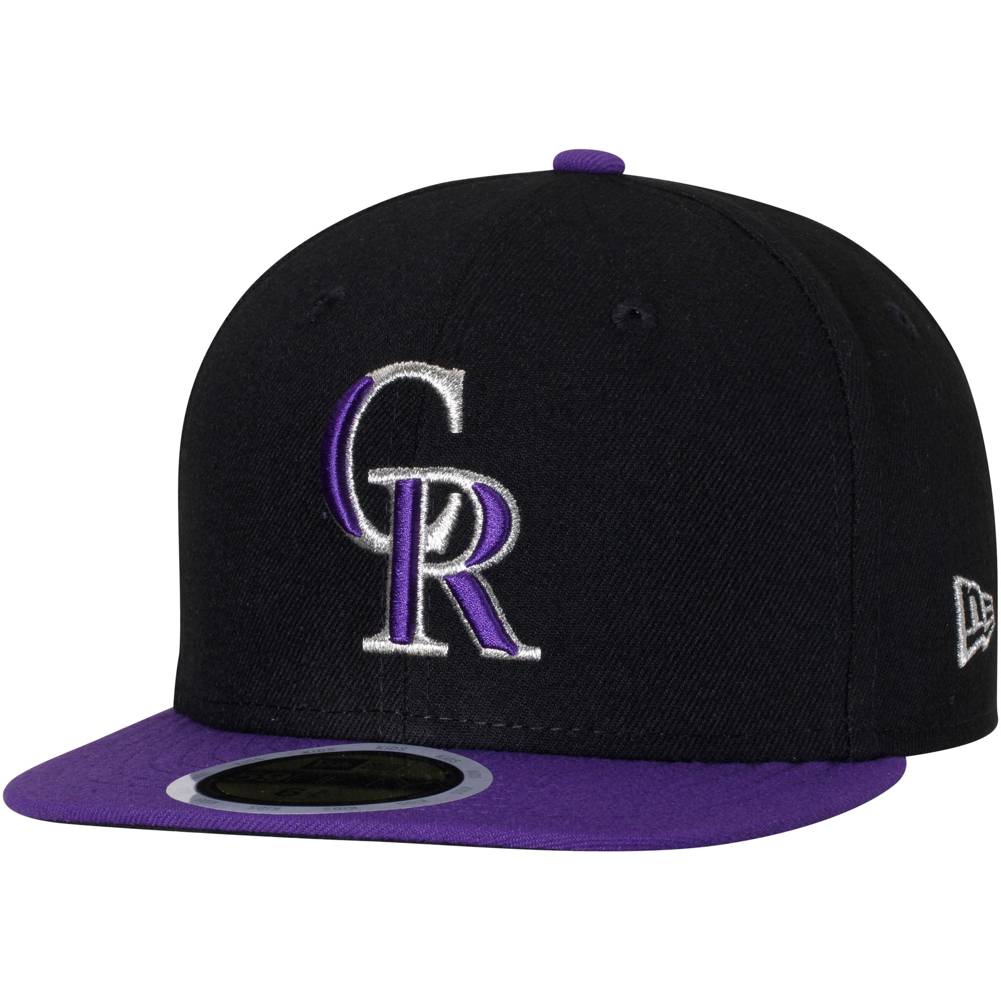 Colorado Rockies New Era Youth Authentic Collection On-Field Alternate 59FIFTY Fitted Hat - Black/Purple