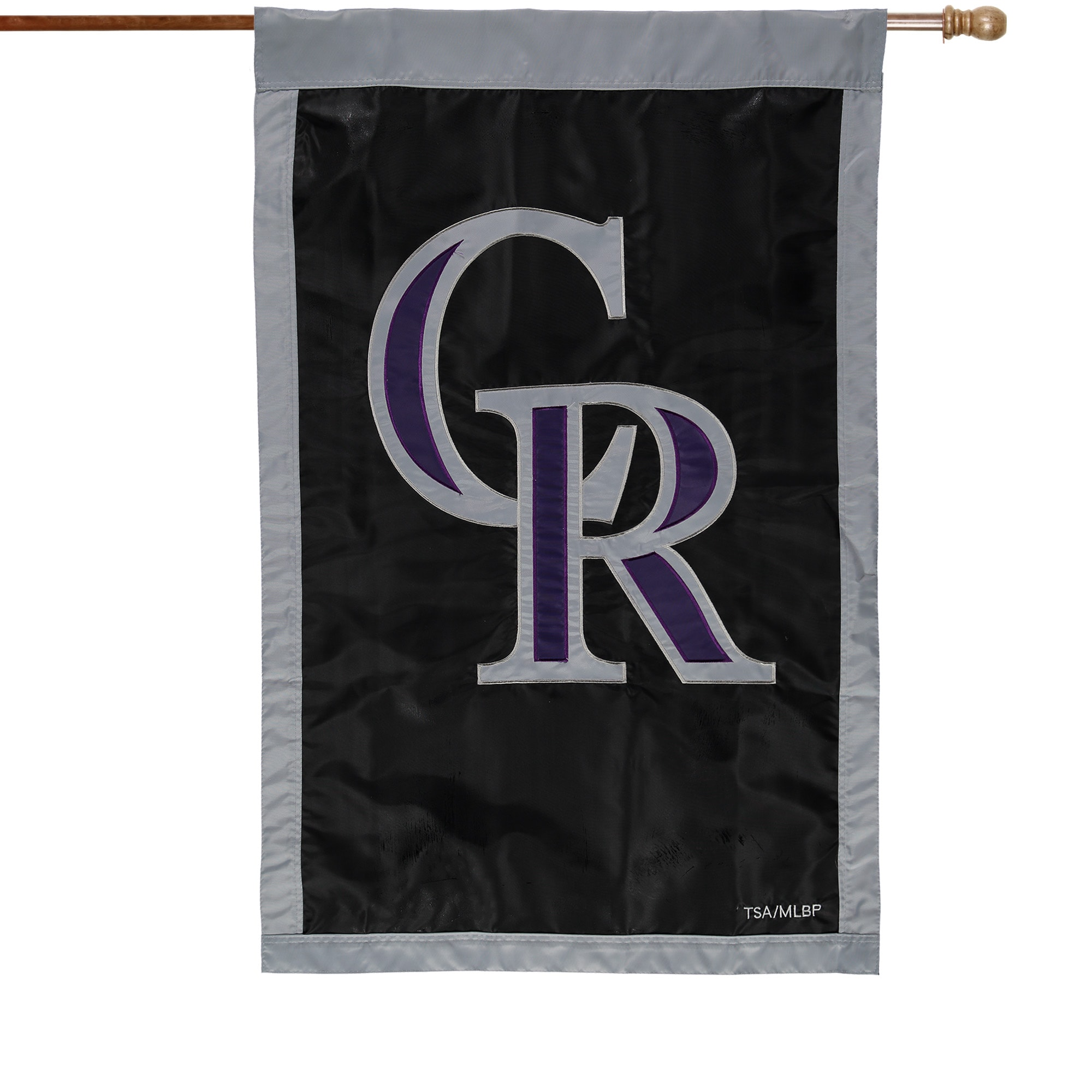 """Colorado Rockies 28"""" x 44"""" Applique Double-Sided House Flag"""