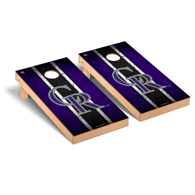 Colorado Rockies 2' x 4' Vintage Cornhole Board Tailgate Toss Set