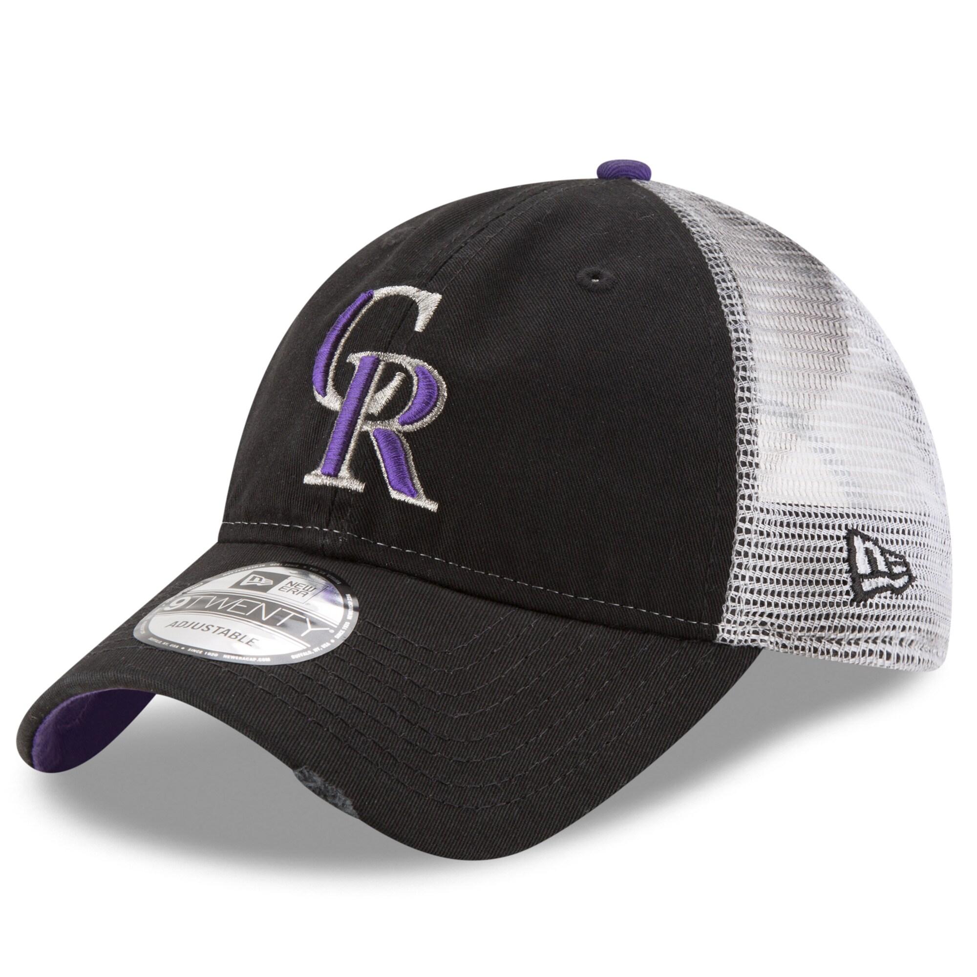Colorado Rockies New Era Team Rustic 9TWENTY Adjustable Hat - Black