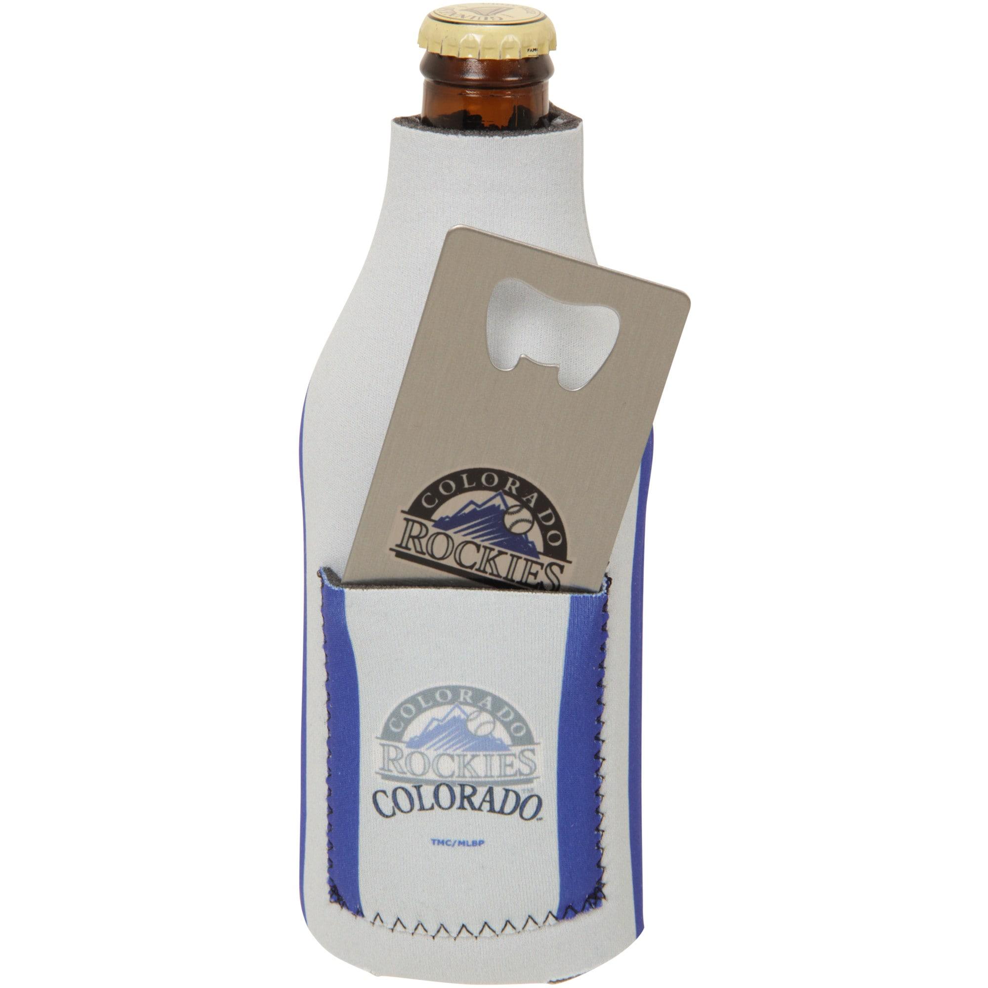 Colorado Rockies Bottle Insulator with Pocket & Opener
