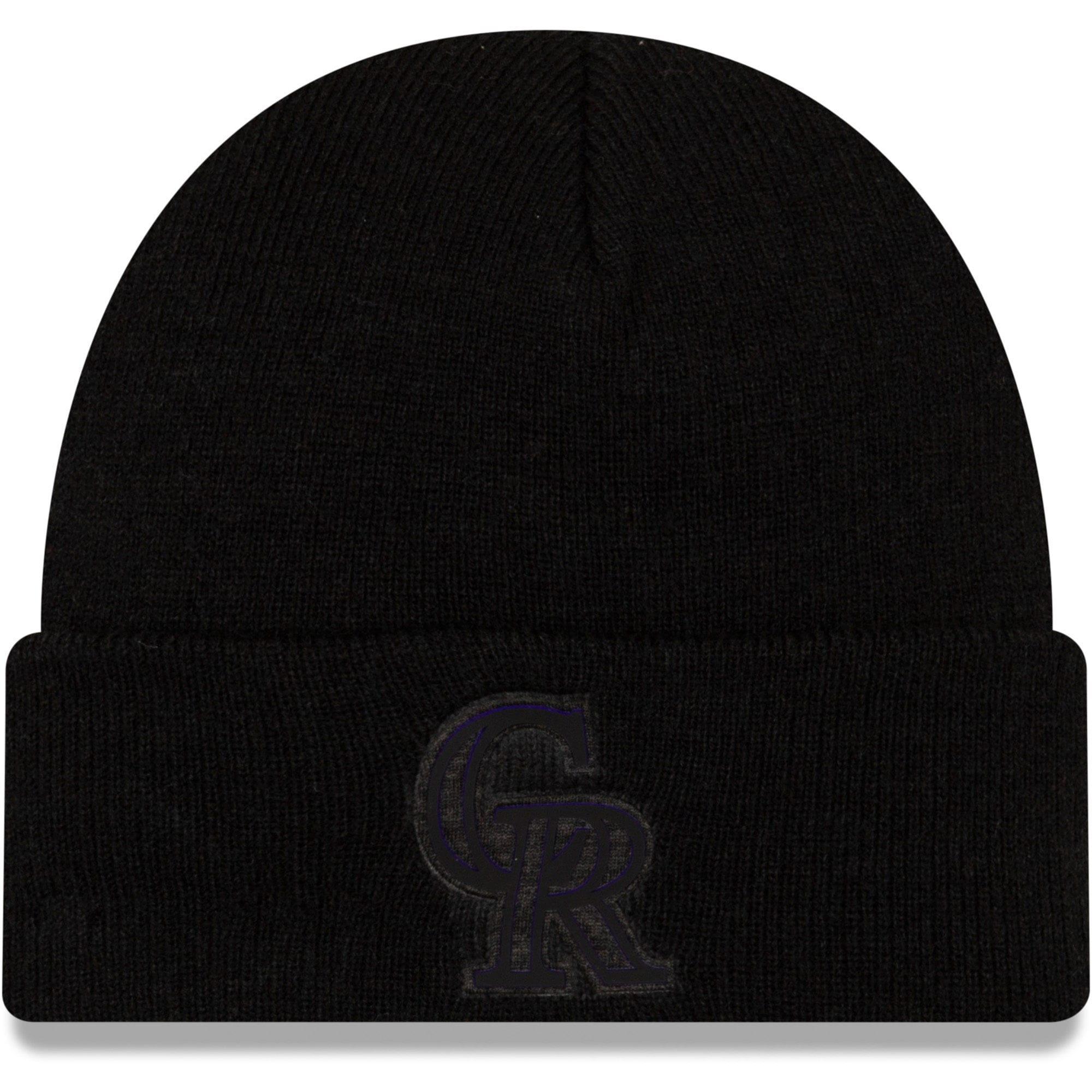 Colorado Rockies New Era Vivid Cuffed Knit Hat - Black