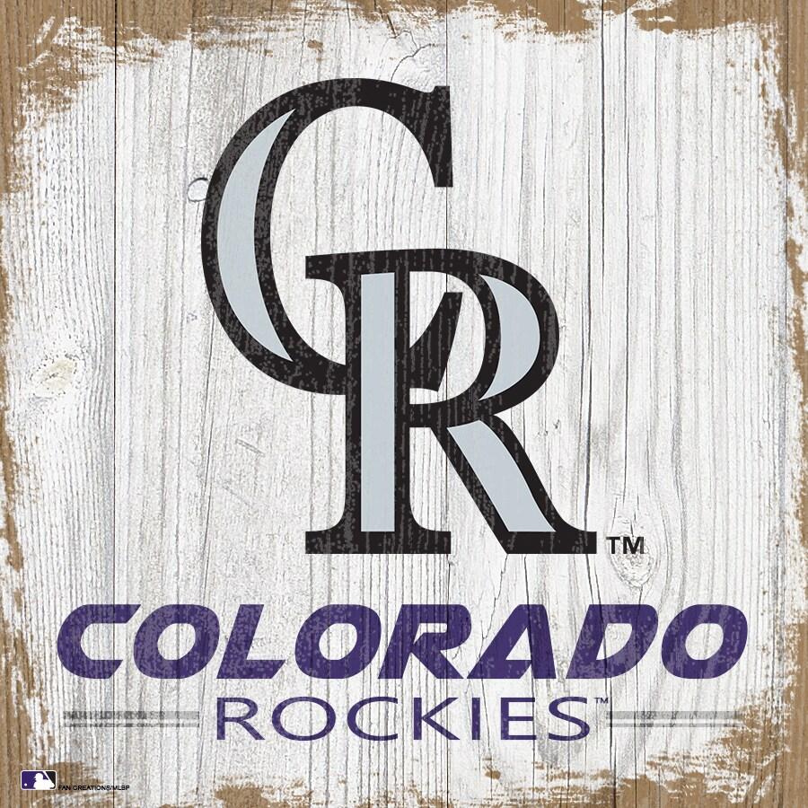 Colorado Rockies 6'' x 6'' Team Logo Block