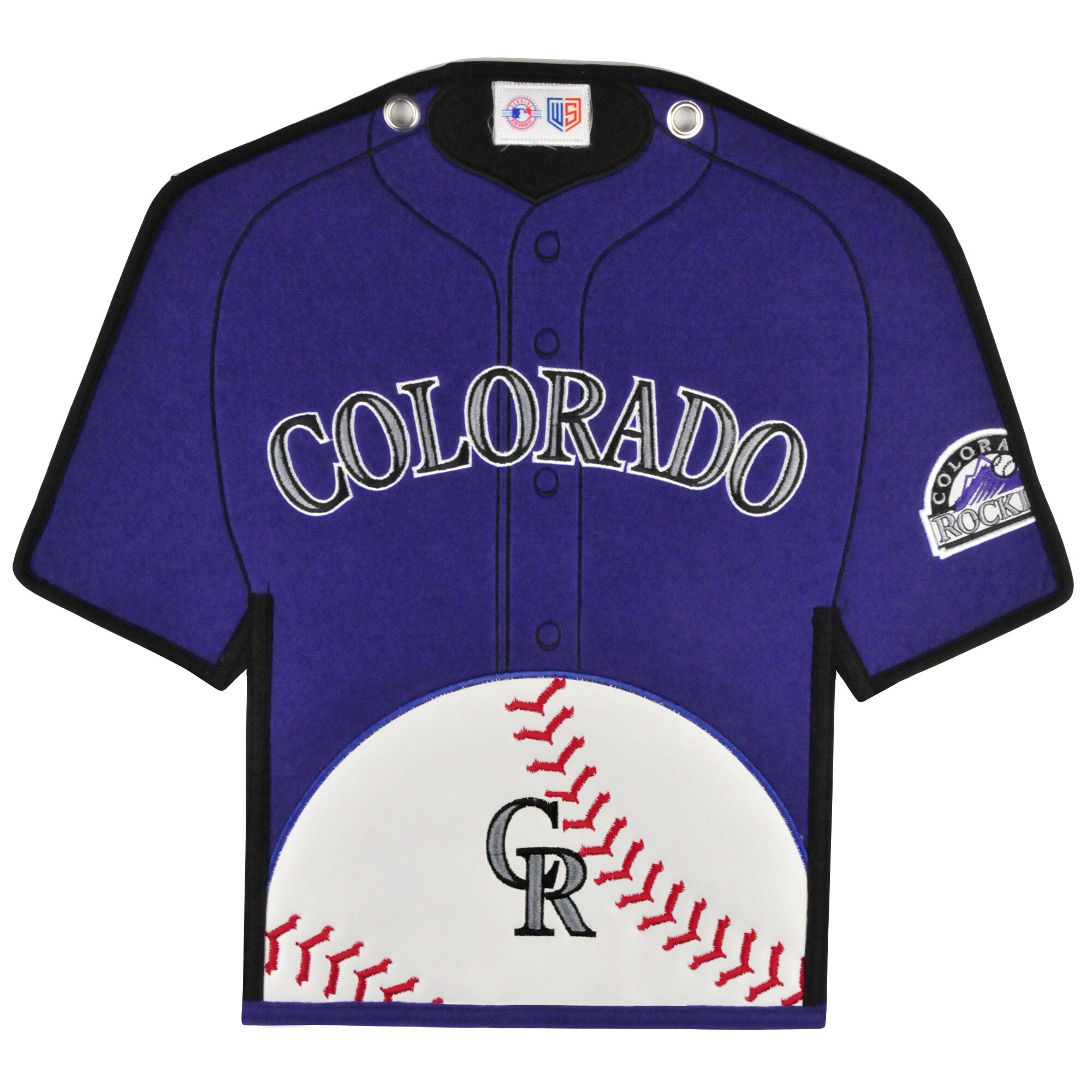 Colorado Rockies 14'' x 22'' Jersey Traditions Banner - Purple/Black