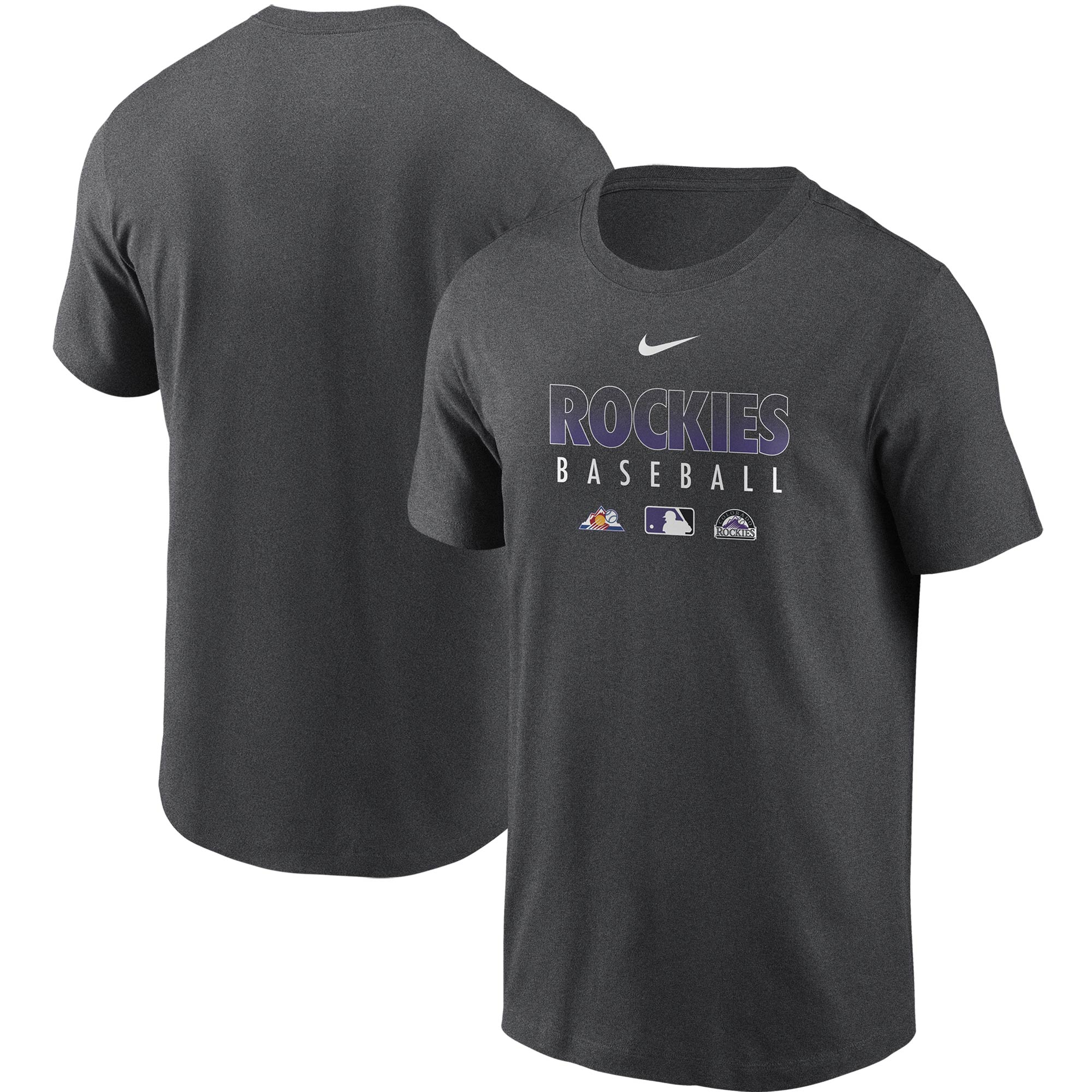 Colorado Rockies Nike Authentic Collection Team Performance T-Shirt - Gray