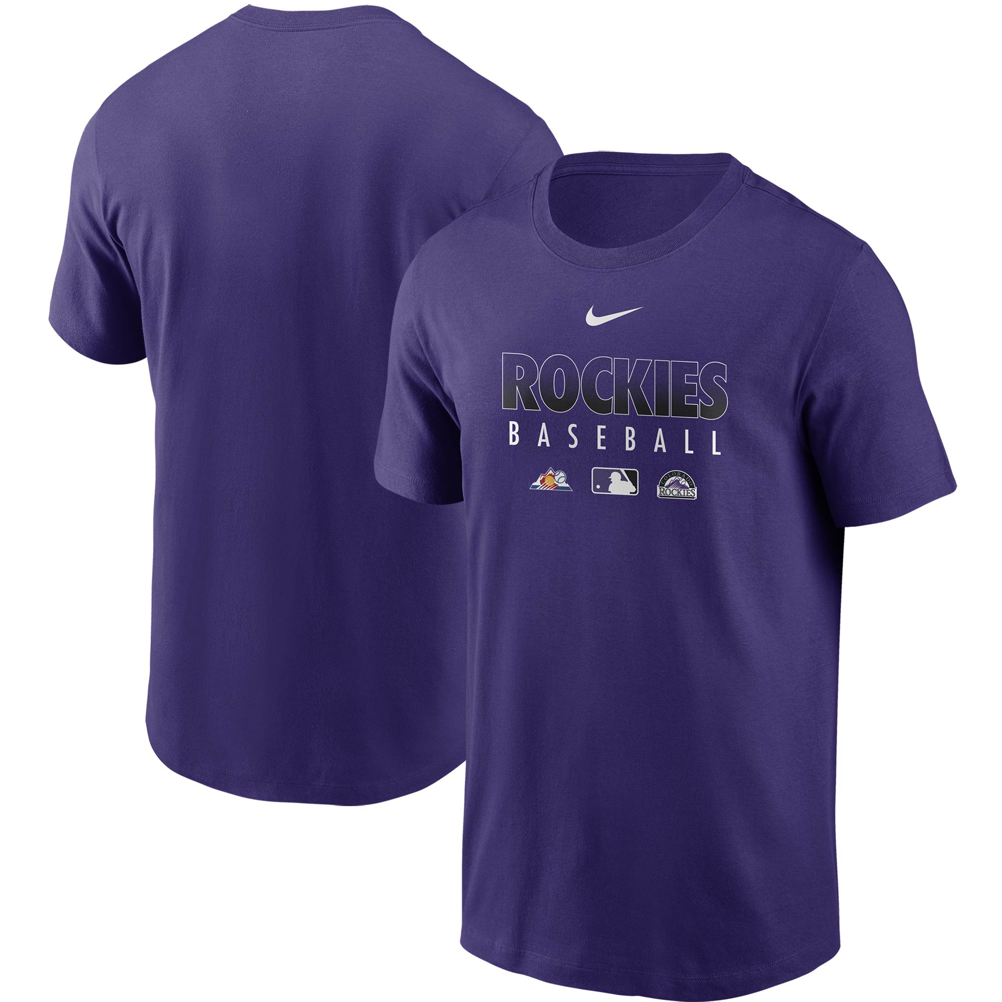 Colorado Rockies Nike Authentic Collection Team Performance T-Shirt - Purple