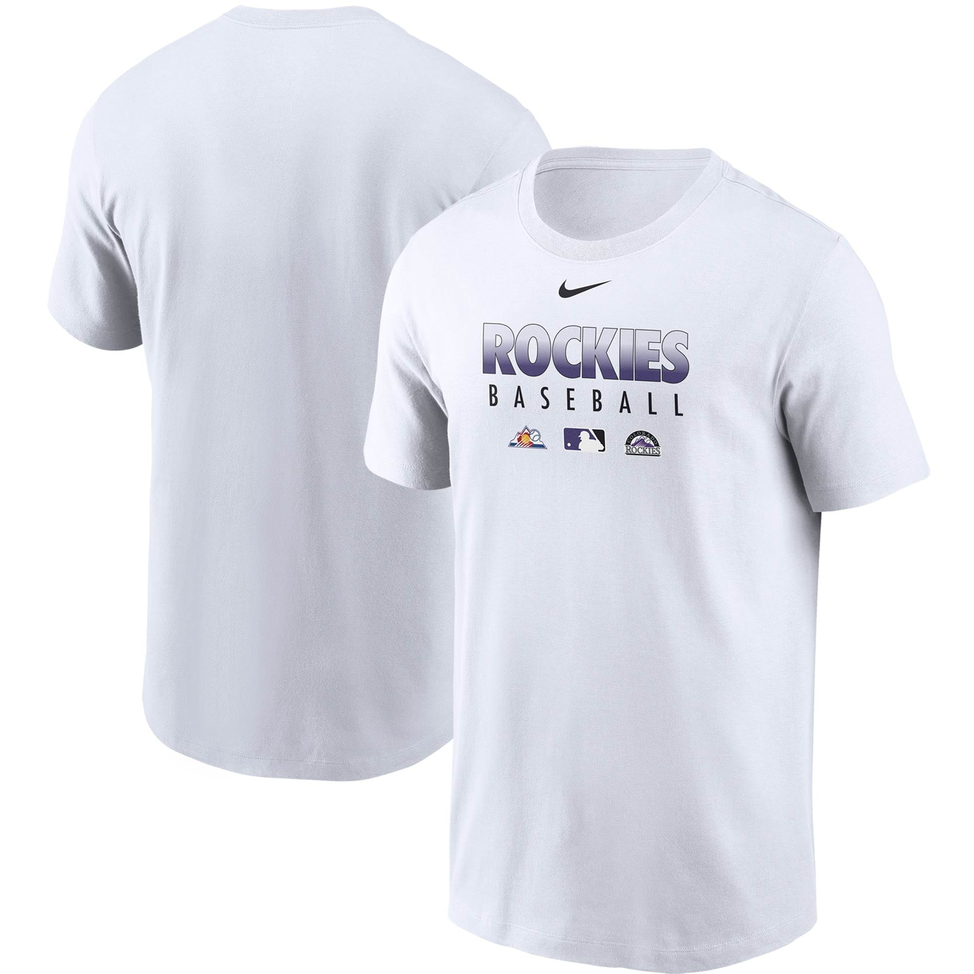 Colorado Rockies Nike Authentic Collection Team Performance T-Shirt - White
