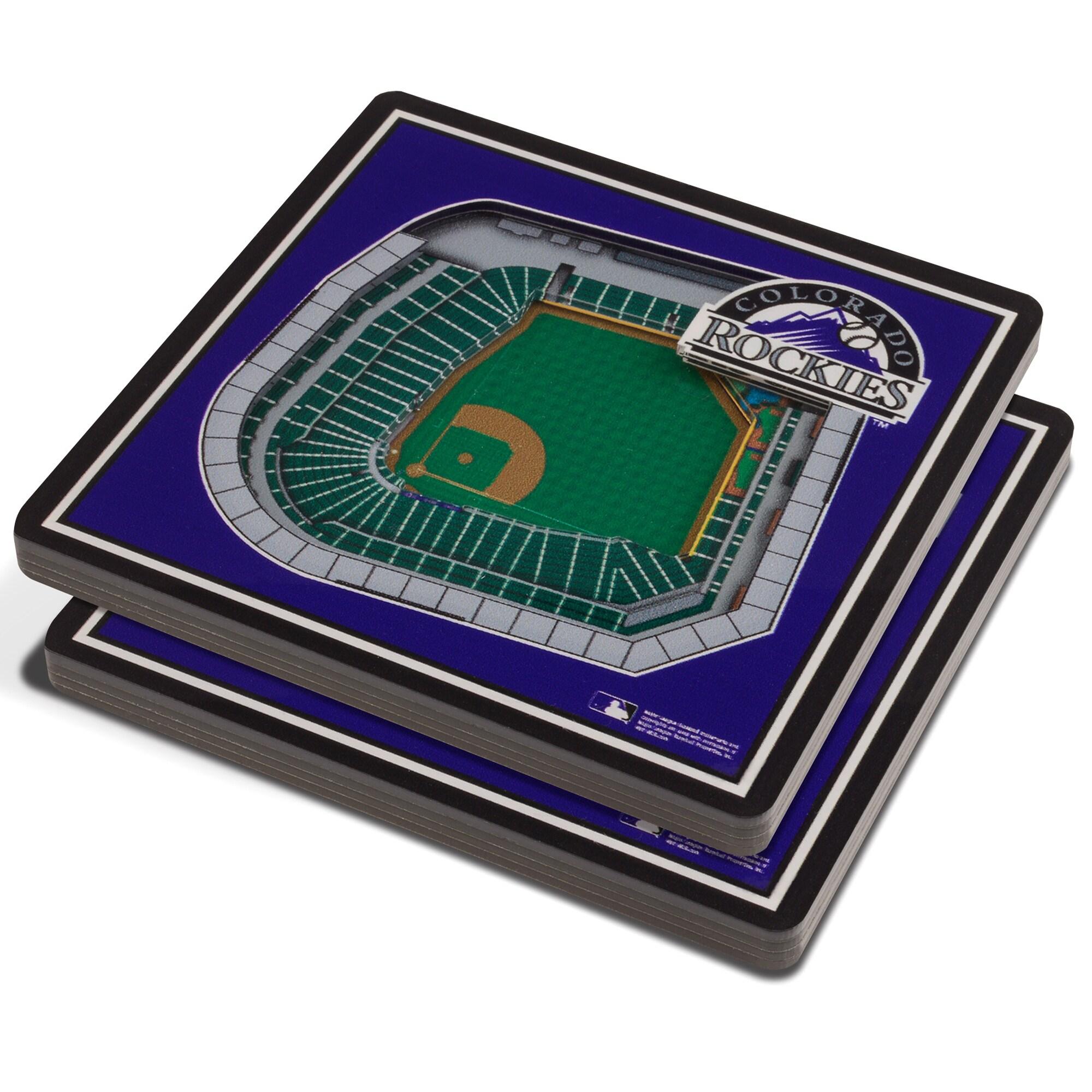 Colorado Rockies 3D StadiumViews Coasters - Purple