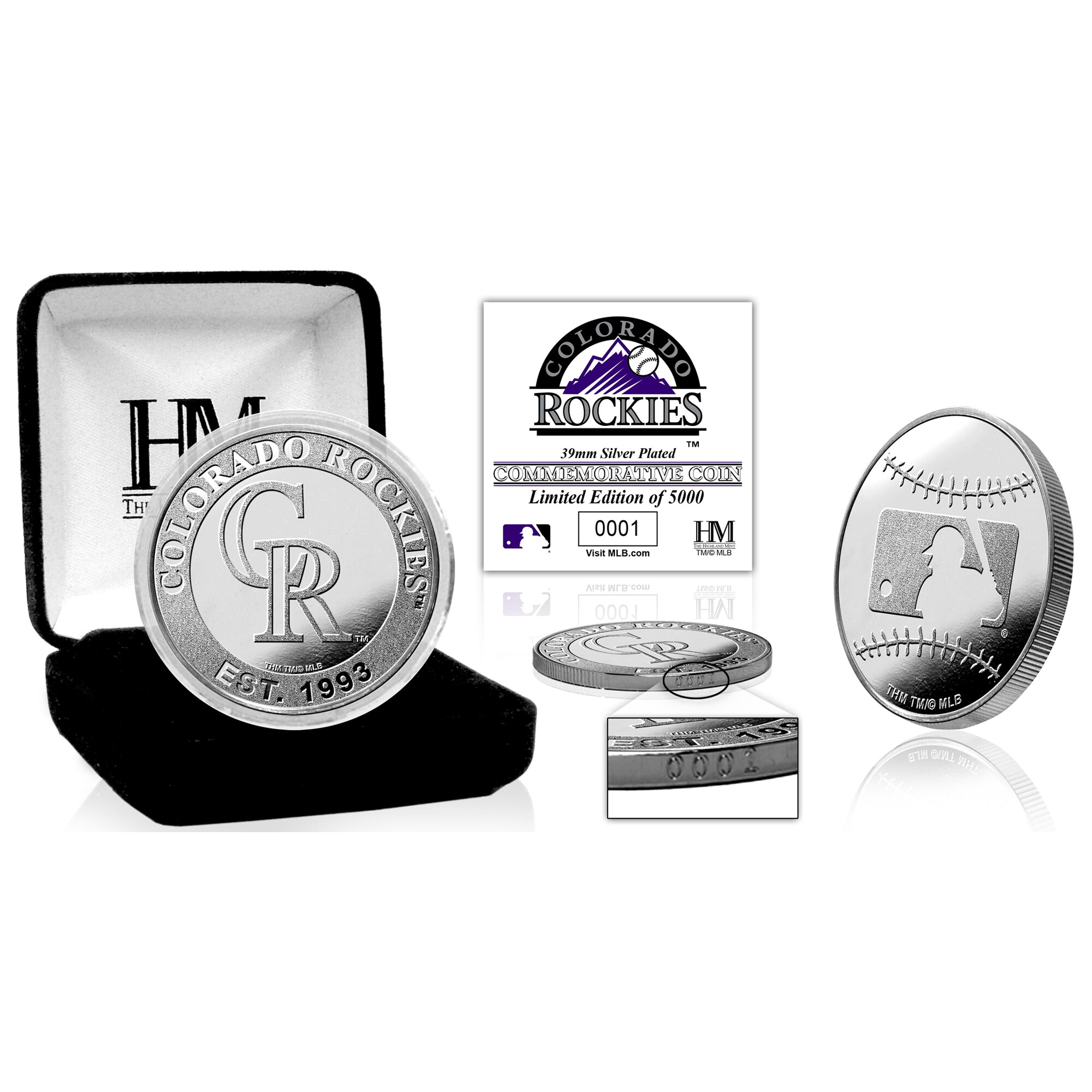 Colorado Rockies Highland Mint Silver Mint Coin