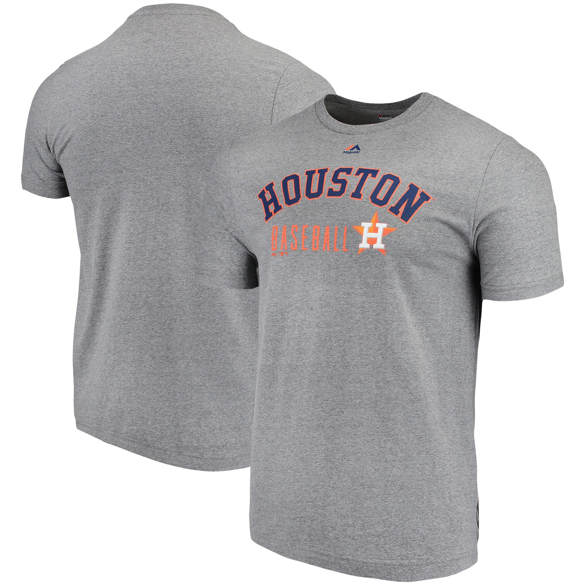 Houston Astros Majestic Open Opportunity Domestic T-Shirt - Heathered Gray