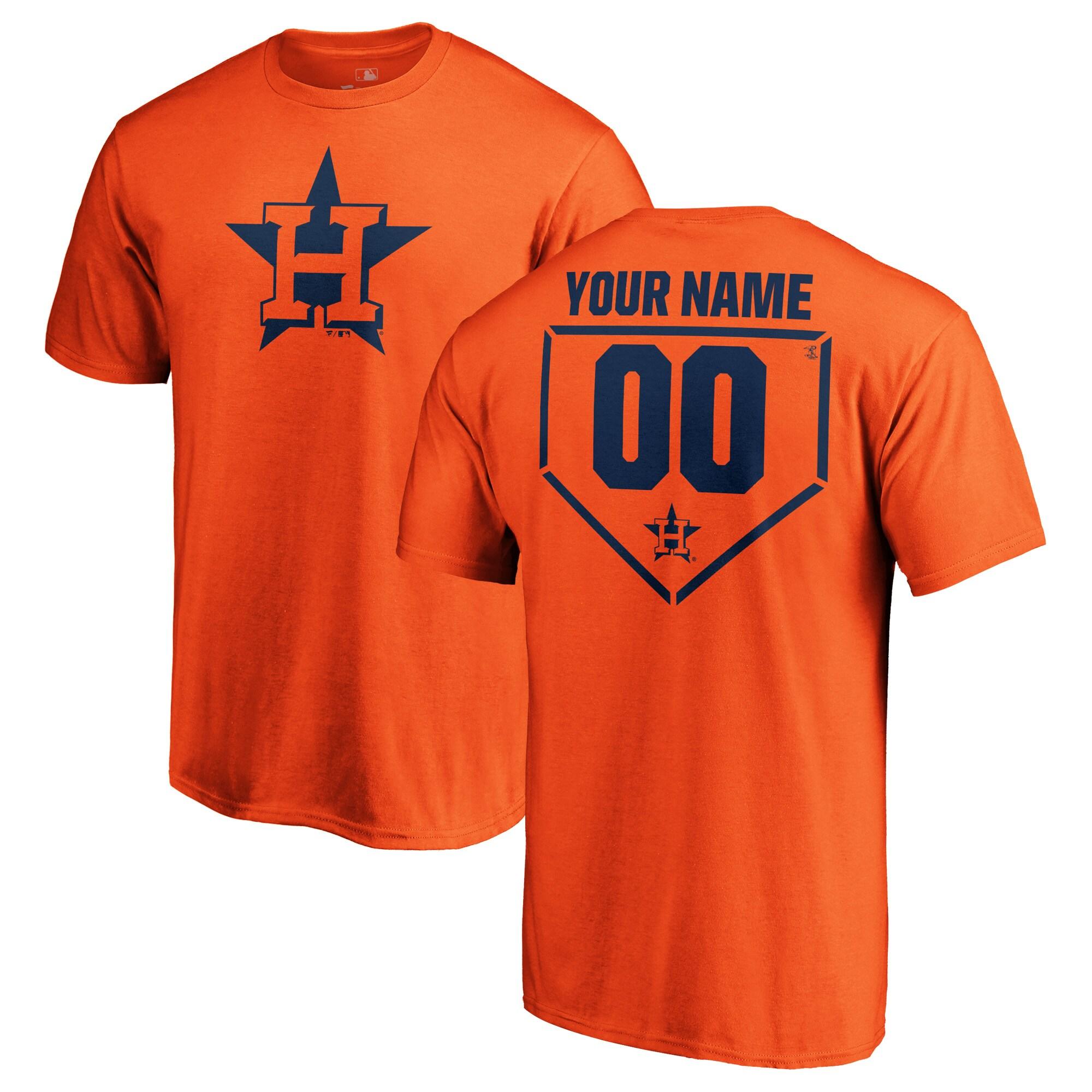 Houston Astros Fanatics Branded Personalized RBI T-Shirt - Orange