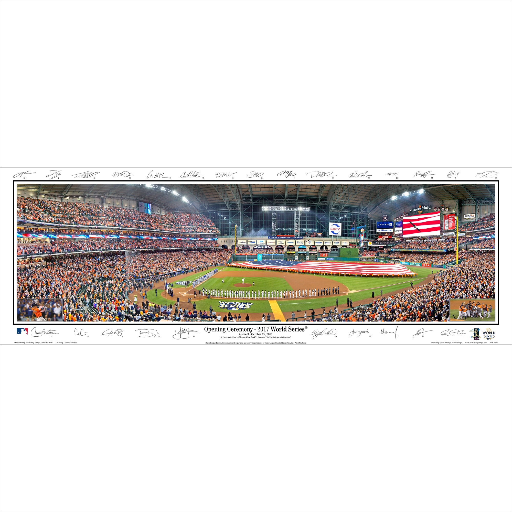 "Houston Astros 15"" x 40"" 2017 World Series Champions Standard Frame Panoramic Signature Photo"
