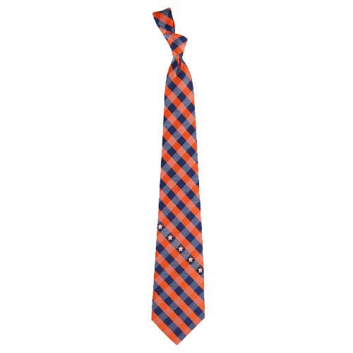 Houston Astros Woven Checkered Tie
