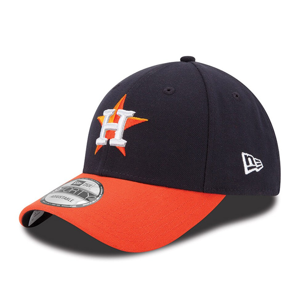 Houston Astros New Era Men's League 9FORTY Adjustable Hat - Navy/Orange