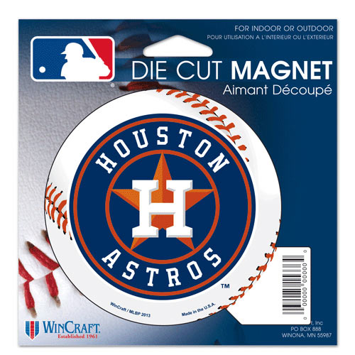 "Houston Astros WinCraft 5"" Die-Cut Car Magnet"