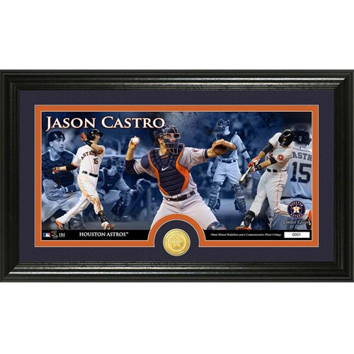 Jason Castro Houston Astros Highland Mint Player Panoramic Photomint with Bronze Coin