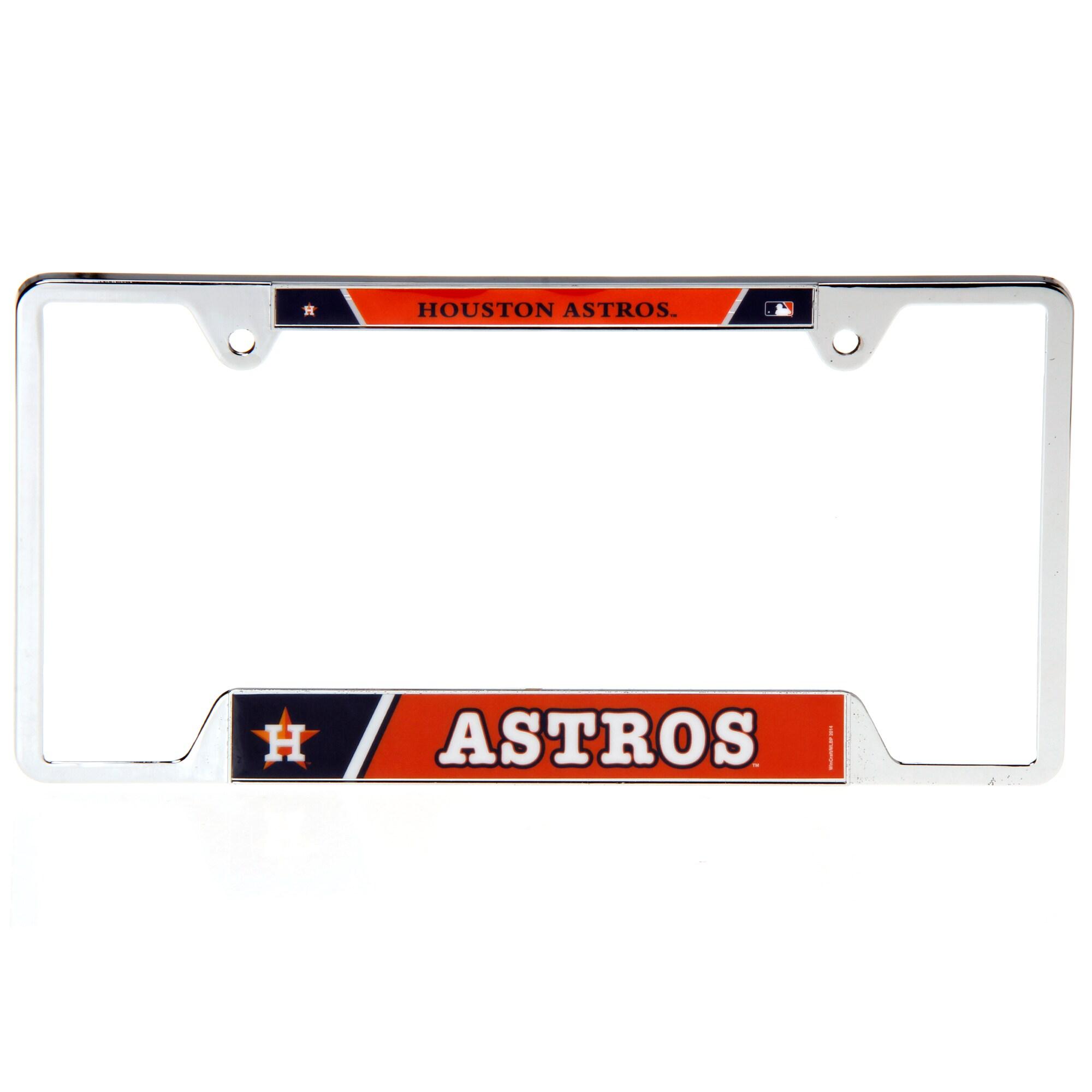 Houston Astros WinCraft Metal License Plate Frame