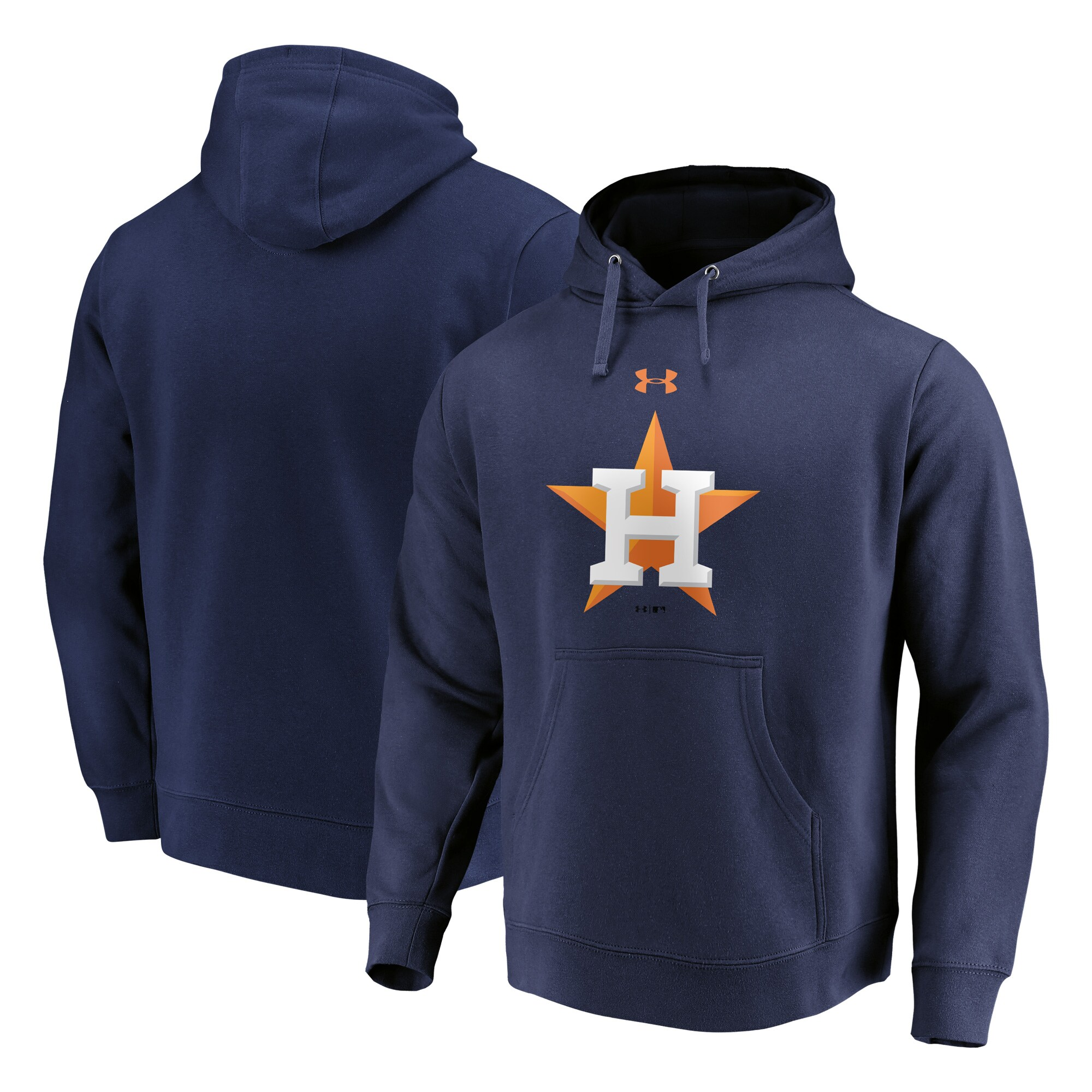 Houston Astros Under Armour Commitment Team Mark Performance Pullover Hoodie - Navy