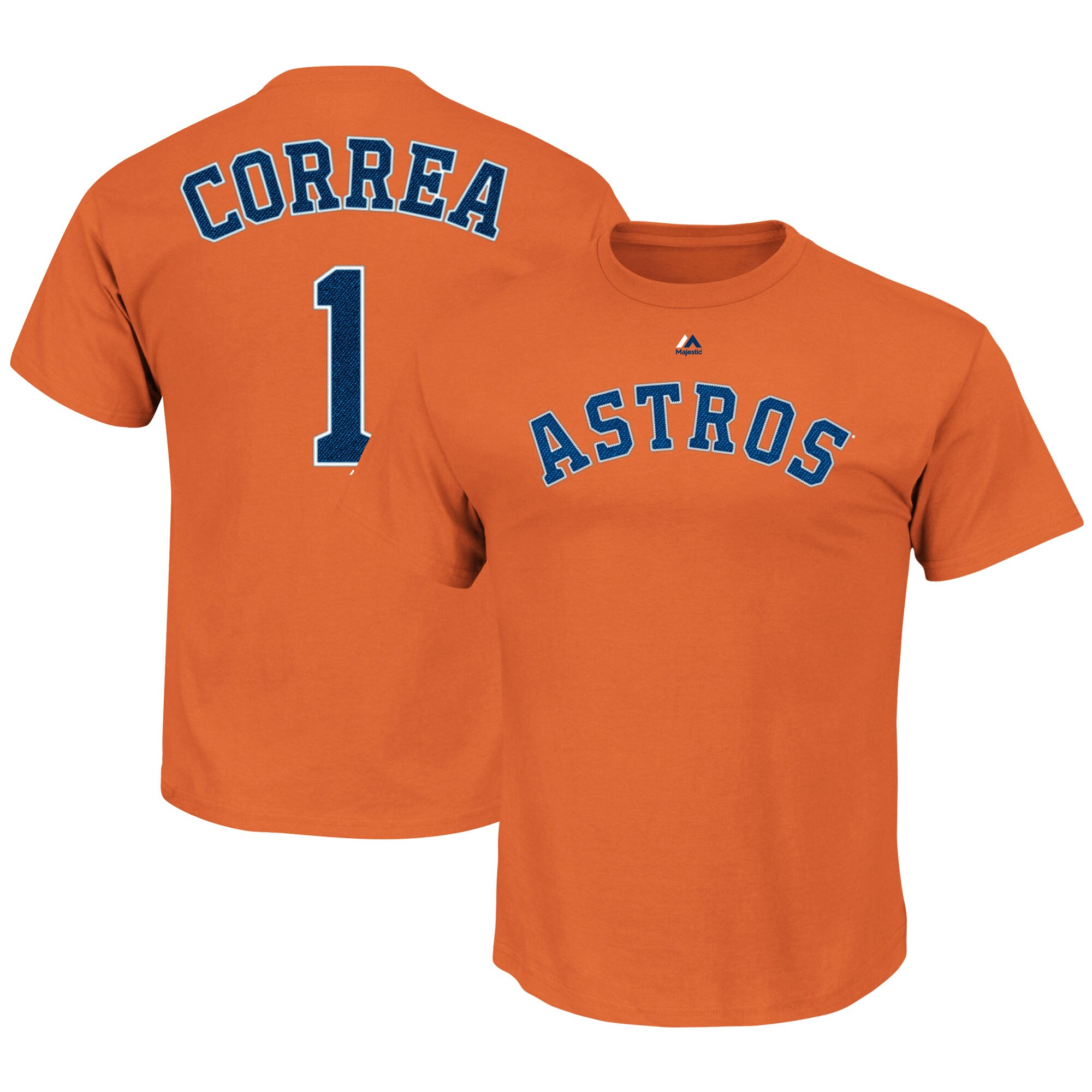 Carlos Correa Houston Astros Majestic Name & Number T-Shirt - Orange