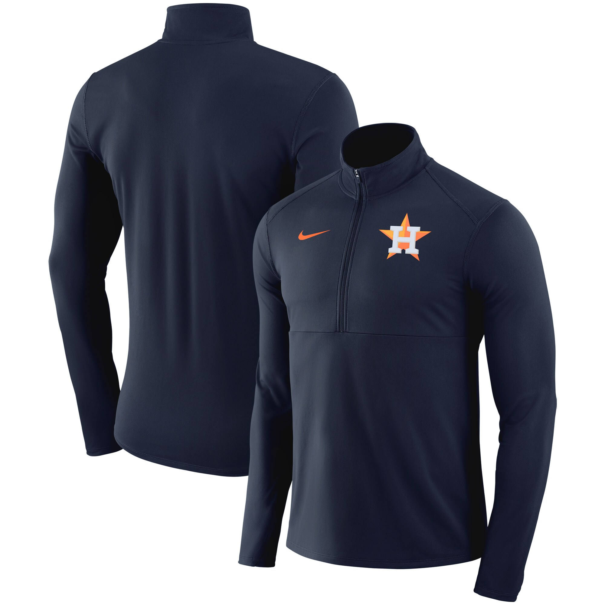 Houston Astros Nike Dry Element Half-Zip Performance Pullover - Navy