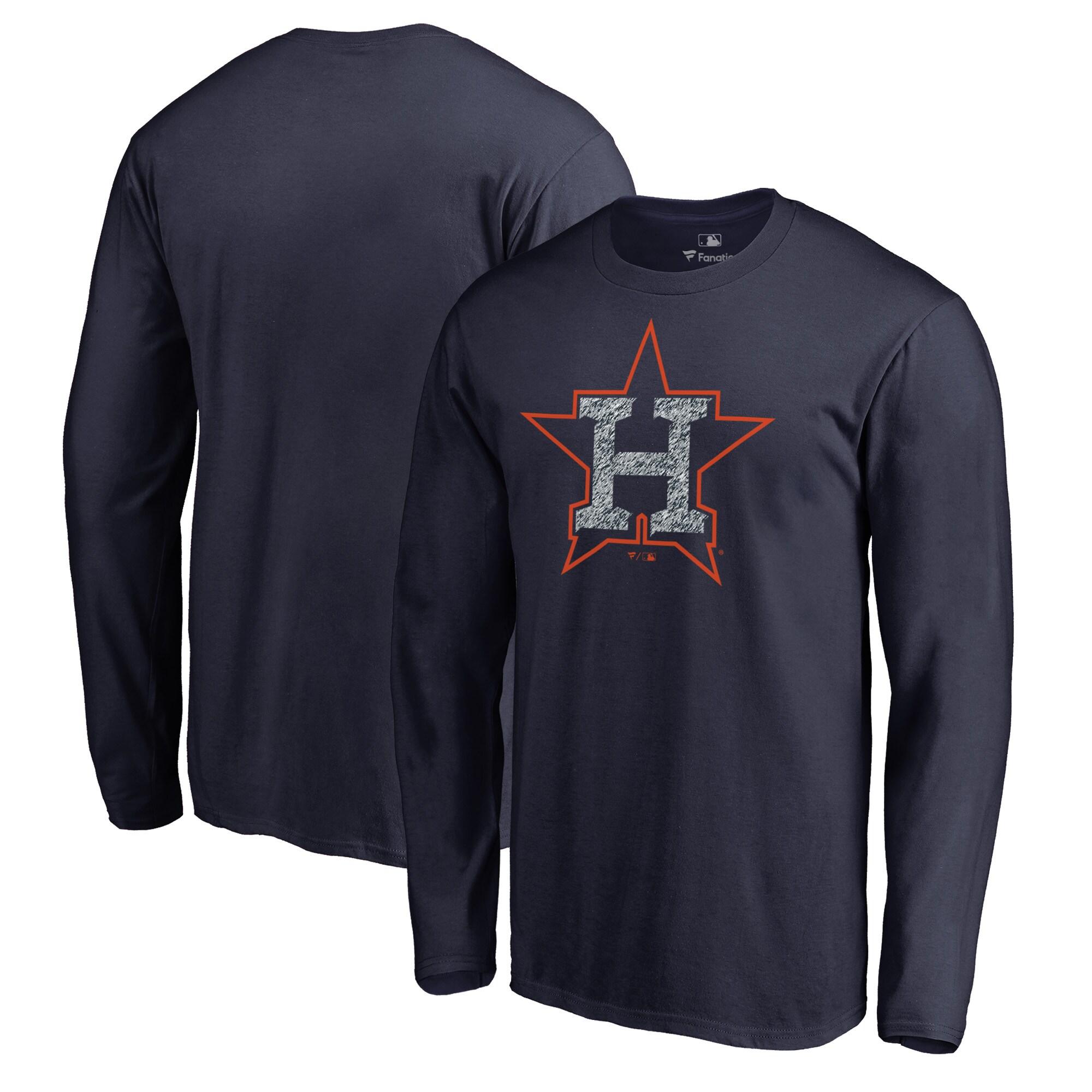 Houston Astros Fanatics Branded Static Logo Long Sleeve T-Shirt - Navy
