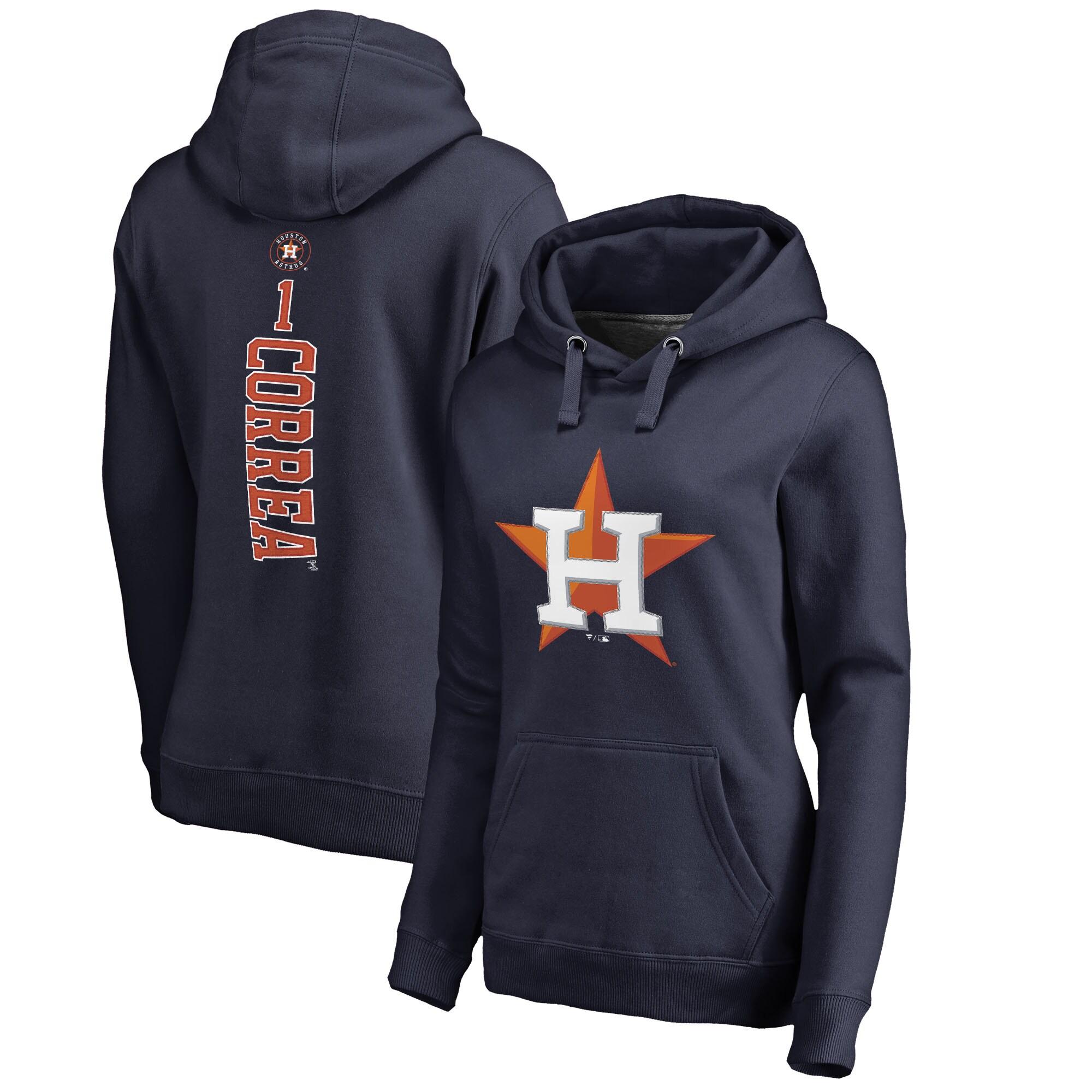 Carlos Correa Houston Astros Fanatics Branded Women's Backer Pullover Hoodie - Navy