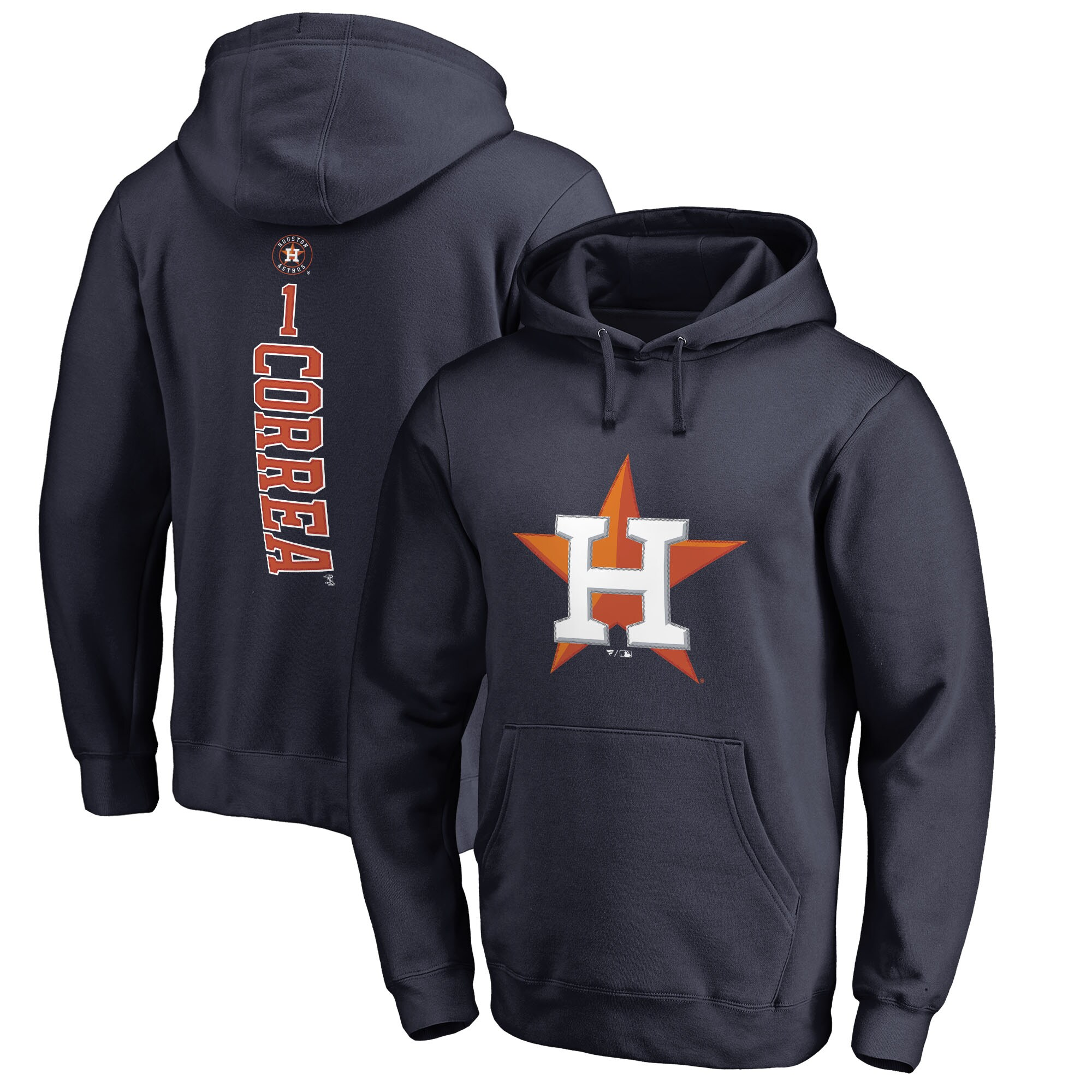 Carlos Correa Houston Astros Fanatics Branded Backer Pullover Hoodie - Navy