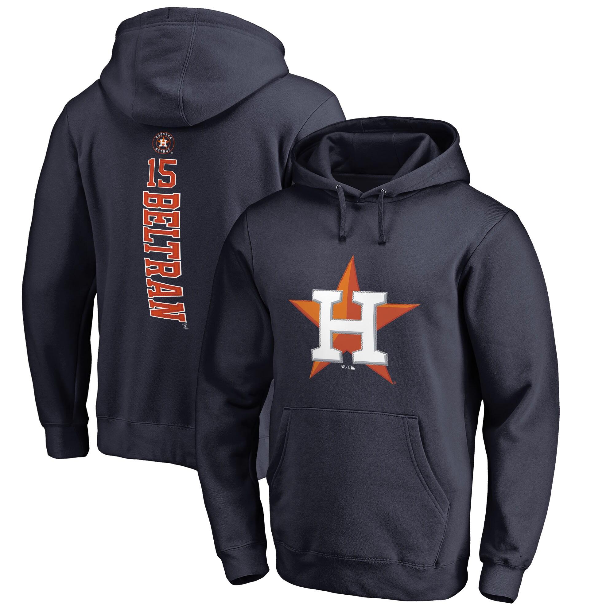 Carlos Beltran Houston Astros Fanatics Branded Backer Pullover Hoodie - Navy