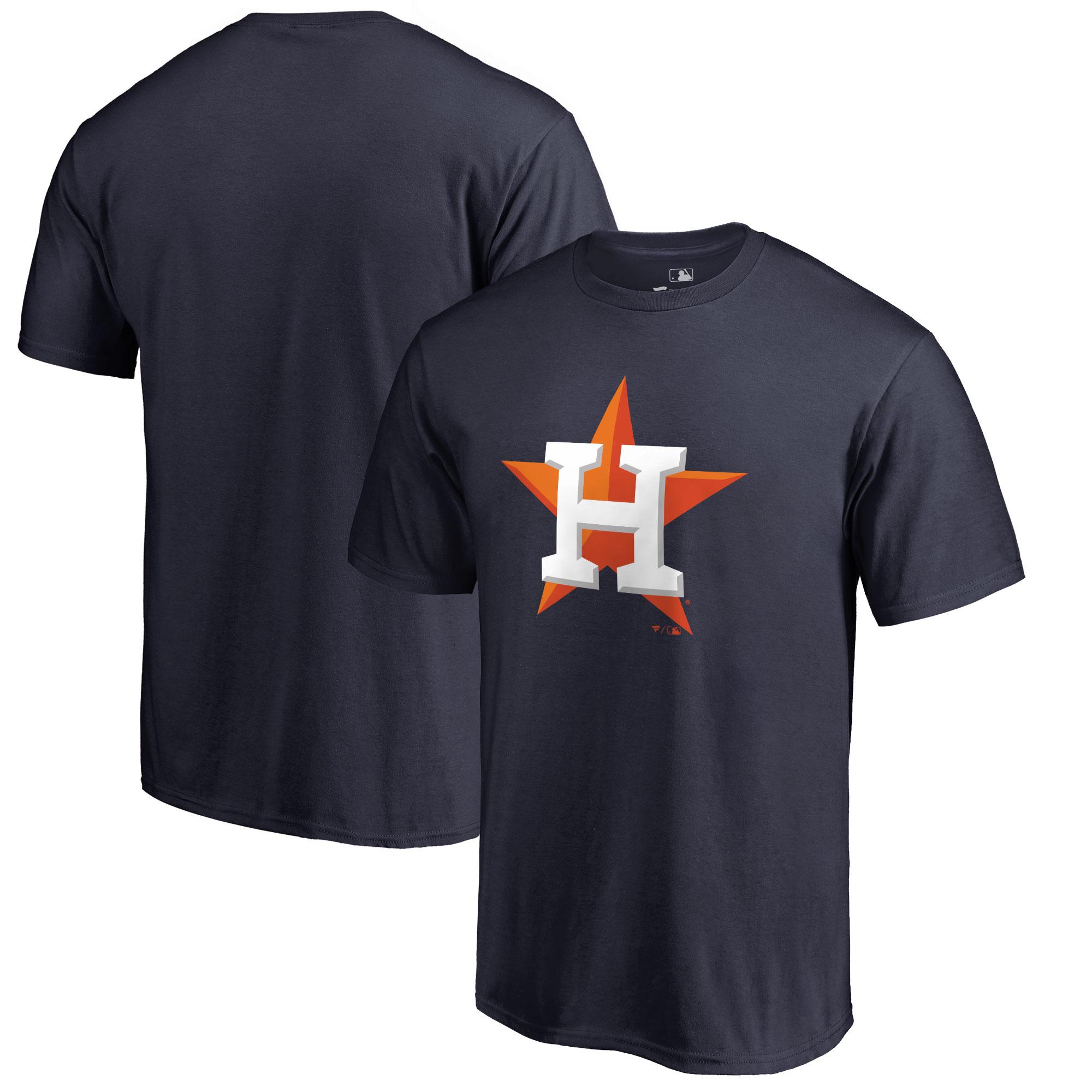 Houston Astros Big & Tall Primary Team Logo T-Shirt - Navy