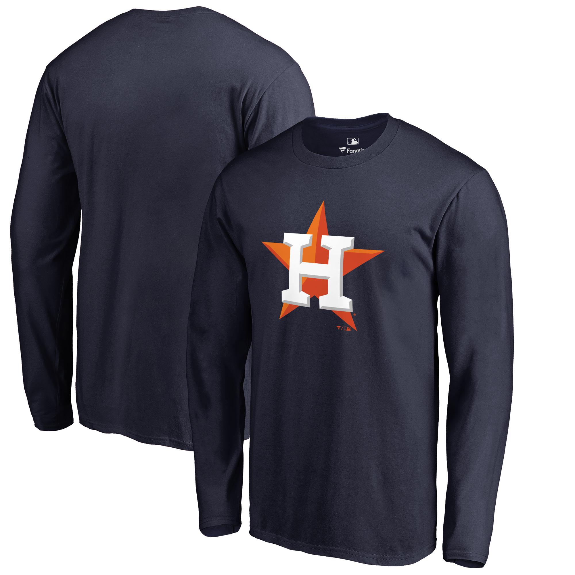 Houston Astros Big & Tall Primary Team Logo Long Sleeve T-Shirt - Navy