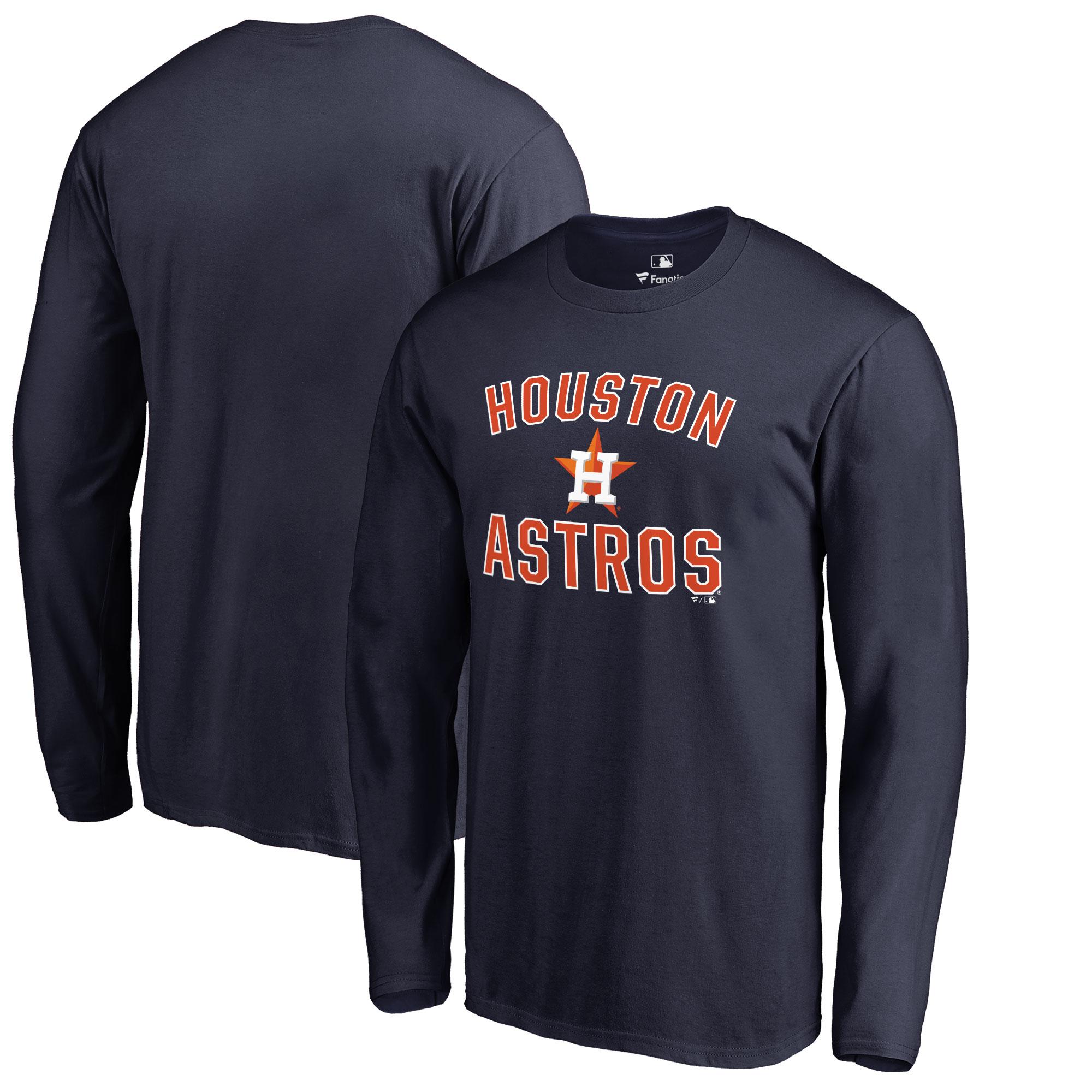 Houston Astros Victory Arch Big & Tall Long Sleeve T-Shirt - Navy