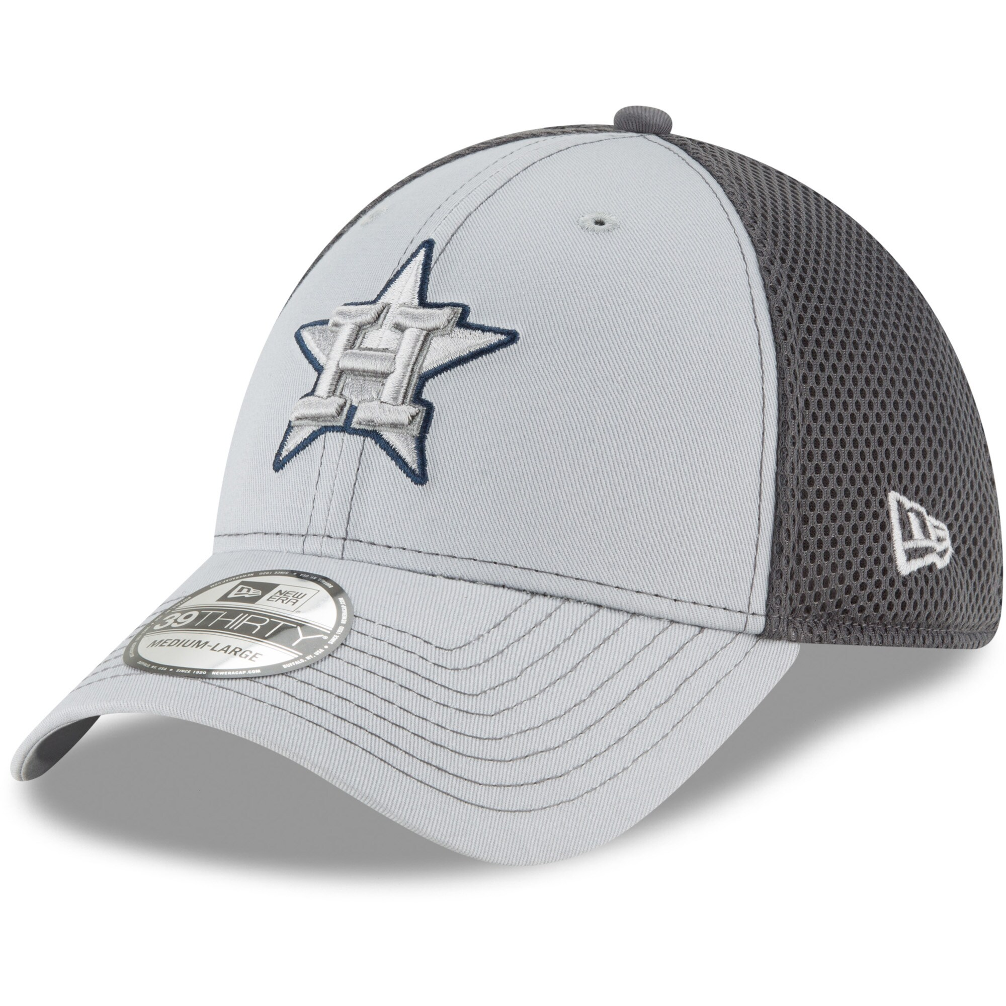 Houston Astros New Era Grayed Out Neo 39THIRTY Flex Hat - Gray