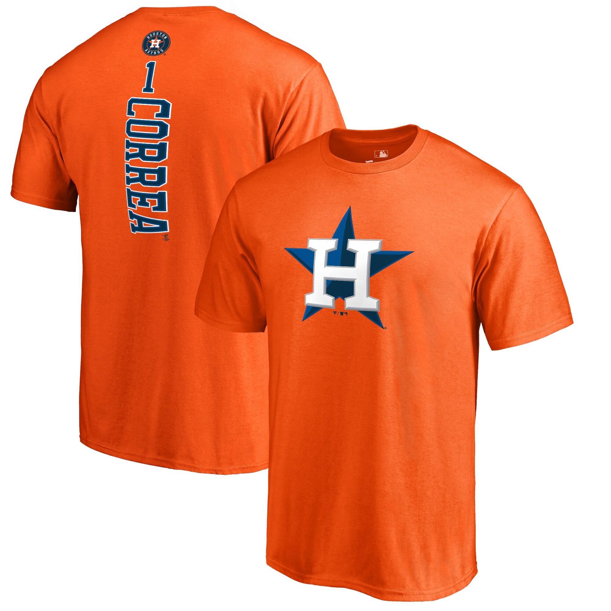 Carlos Correa Houston Astros Backer T-Shirt - Orange