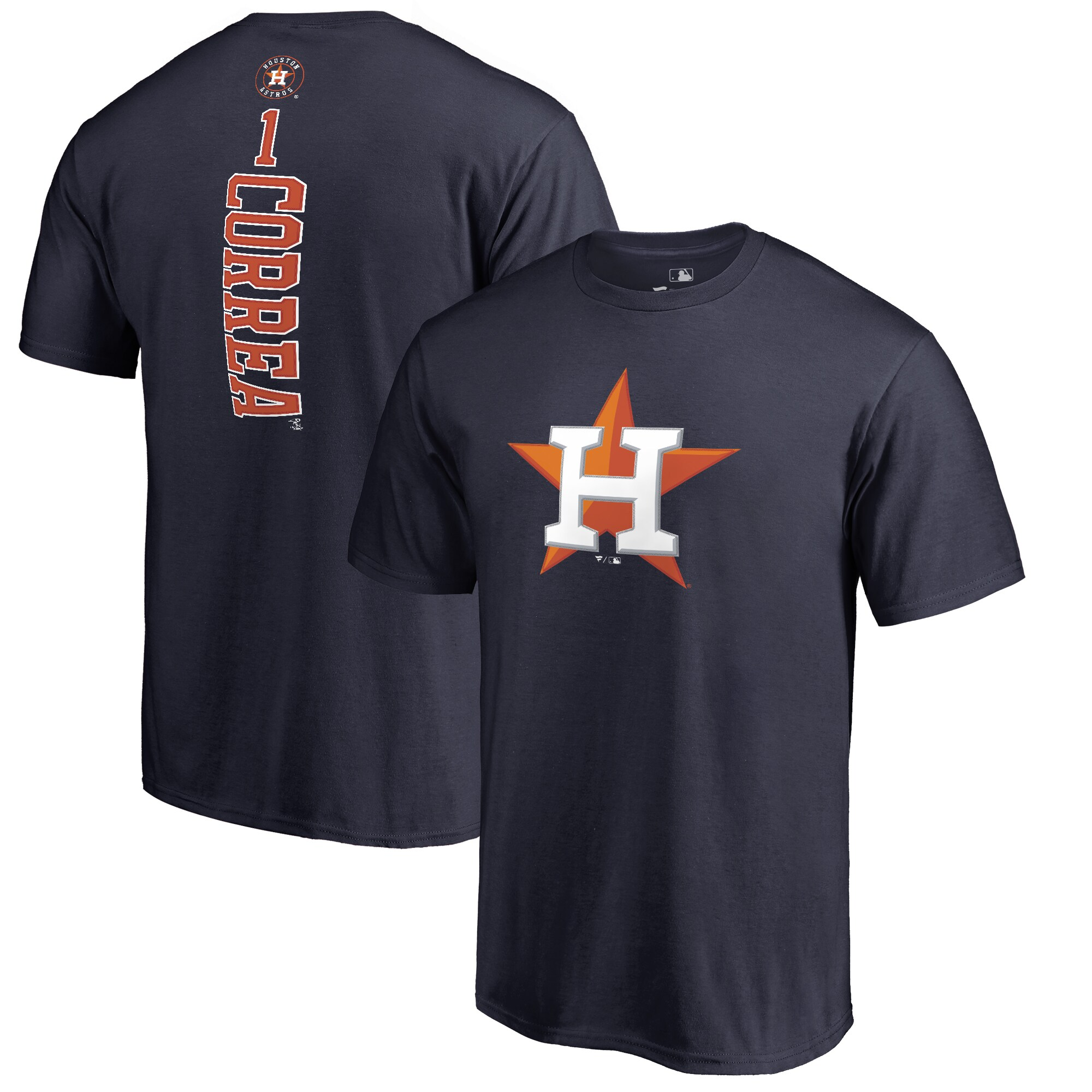 Carlos Correa Houston Astros Backer T-Shirt - Navy