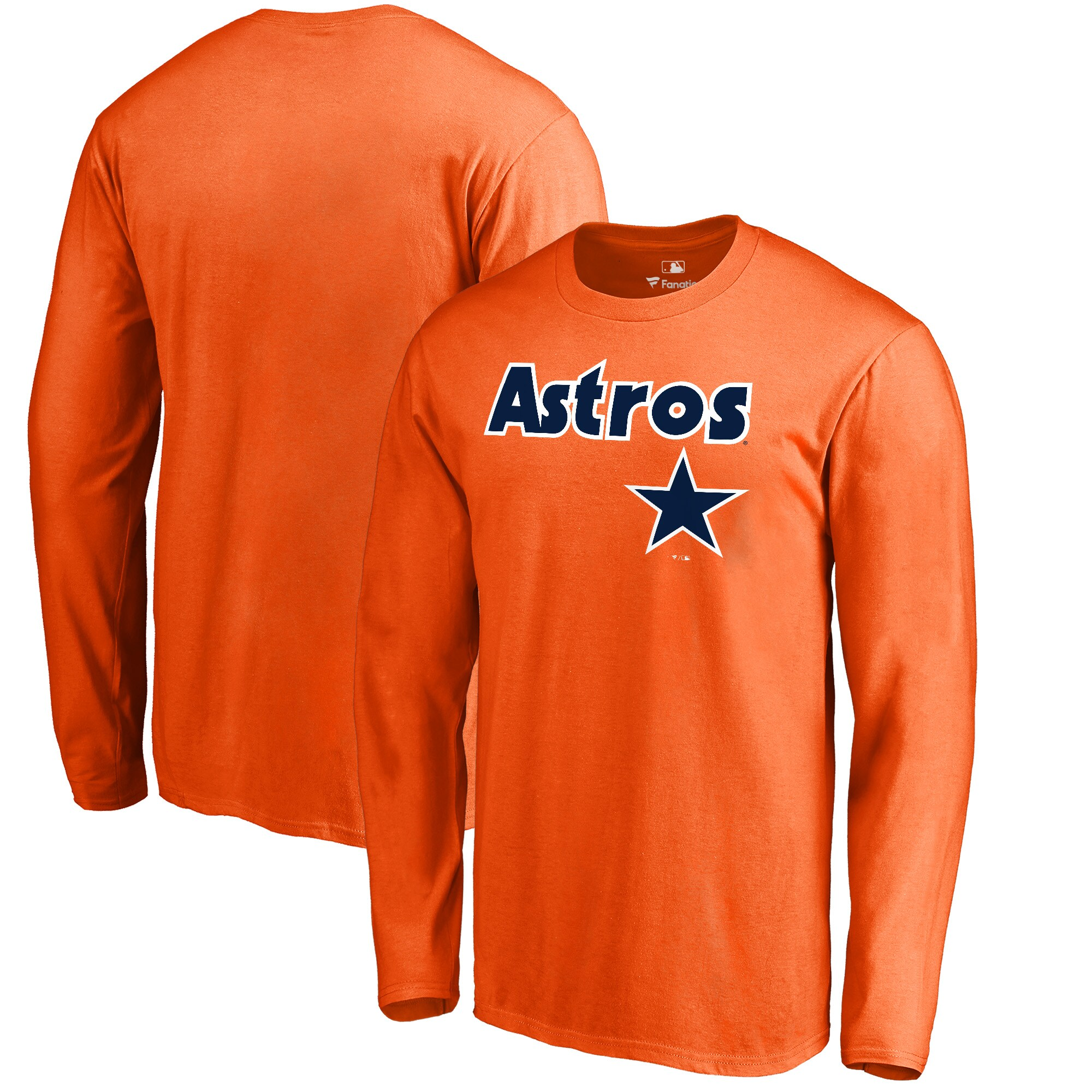 Houston Astros Fanatics Branded Big & Tall Cooperstown Collection Wahconah Long Sleeve T-Shirt - Orange