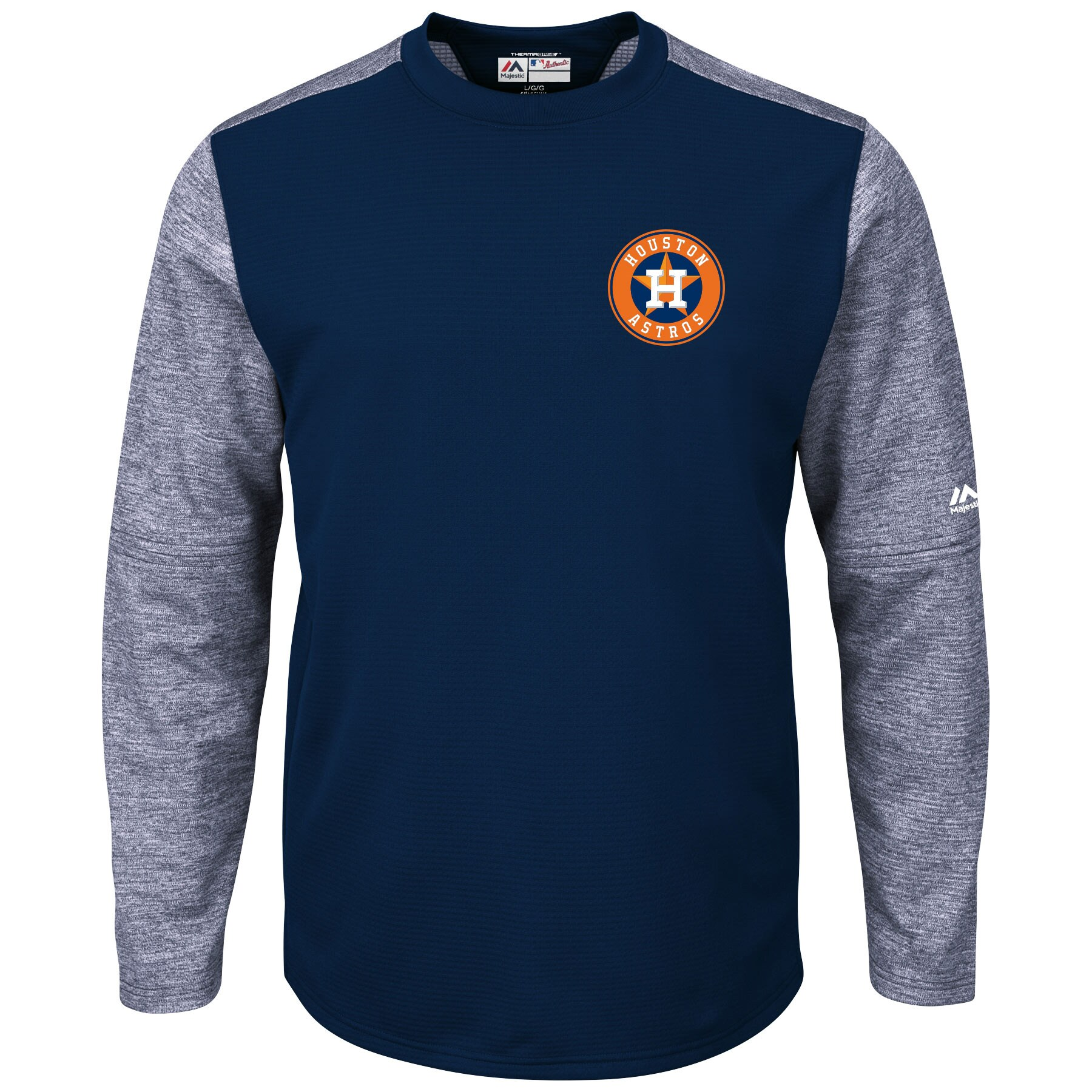 Houston Astros Majestic Authentic Collection On-Field Tech Fleece Therma Base Pullover Sweatshirt - Navy