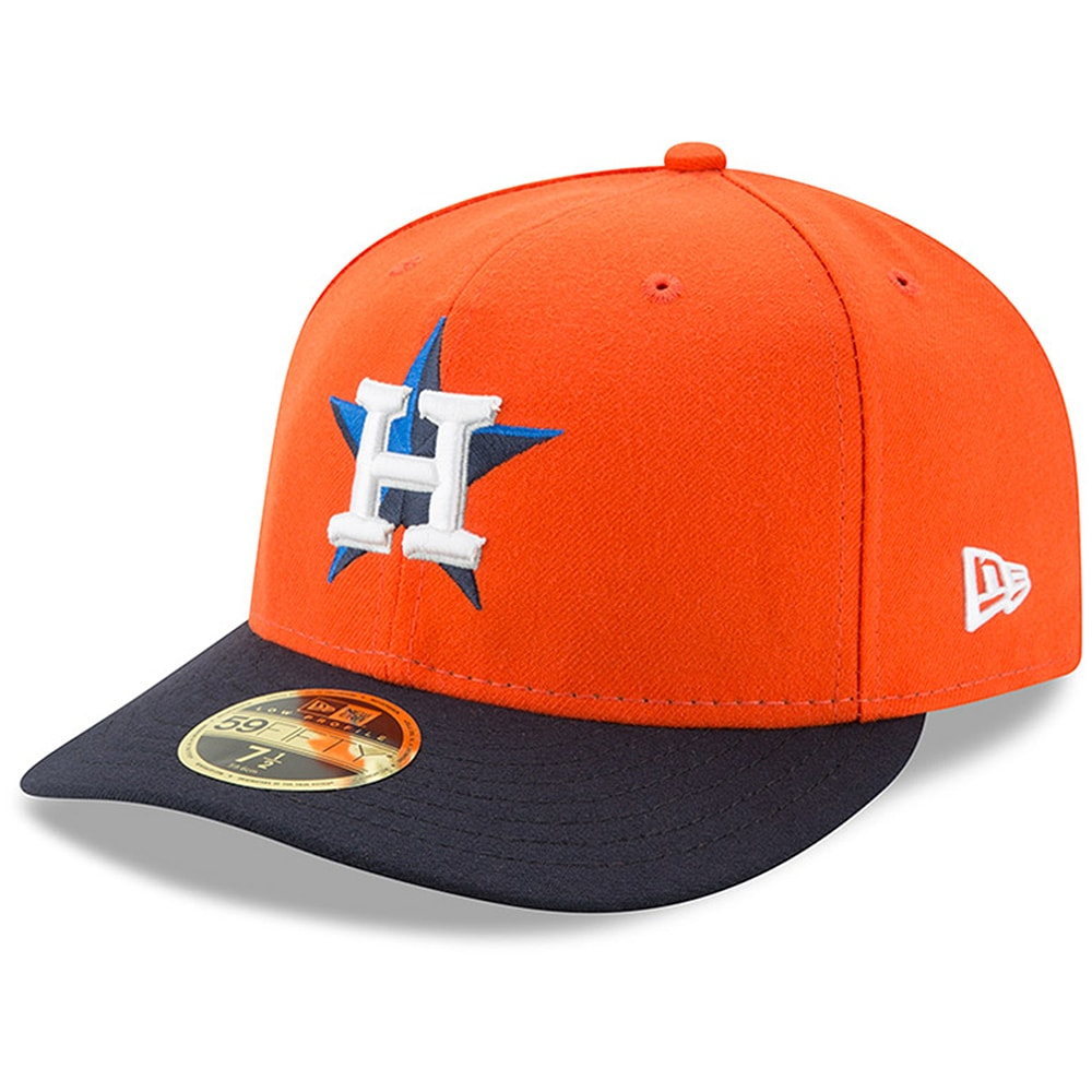 Houston Astros New Era Alternate 2 Authentic Collection On-Field Low Profile 59FIFTY Fitted Hat - Orange/Navy