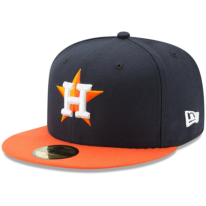 Houston Astros New Era Youth Authentic Collection On-Field Road 59FIFTY Fitted Hat - Navy/Orange