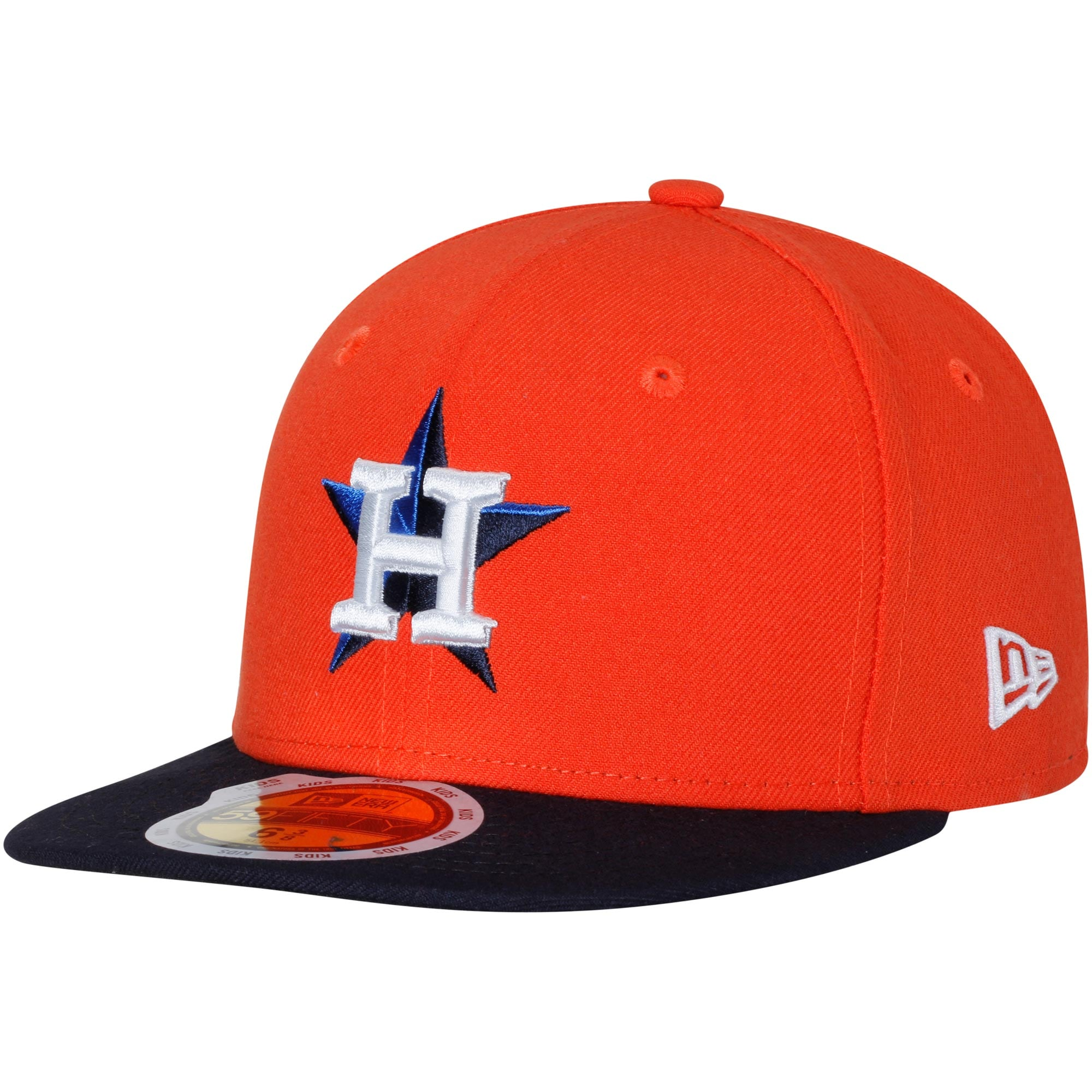 Houston Astros New Era Youth Authentic Collection On-Field Alternate 59FIFTY Fitted Hat - Orange/Navy