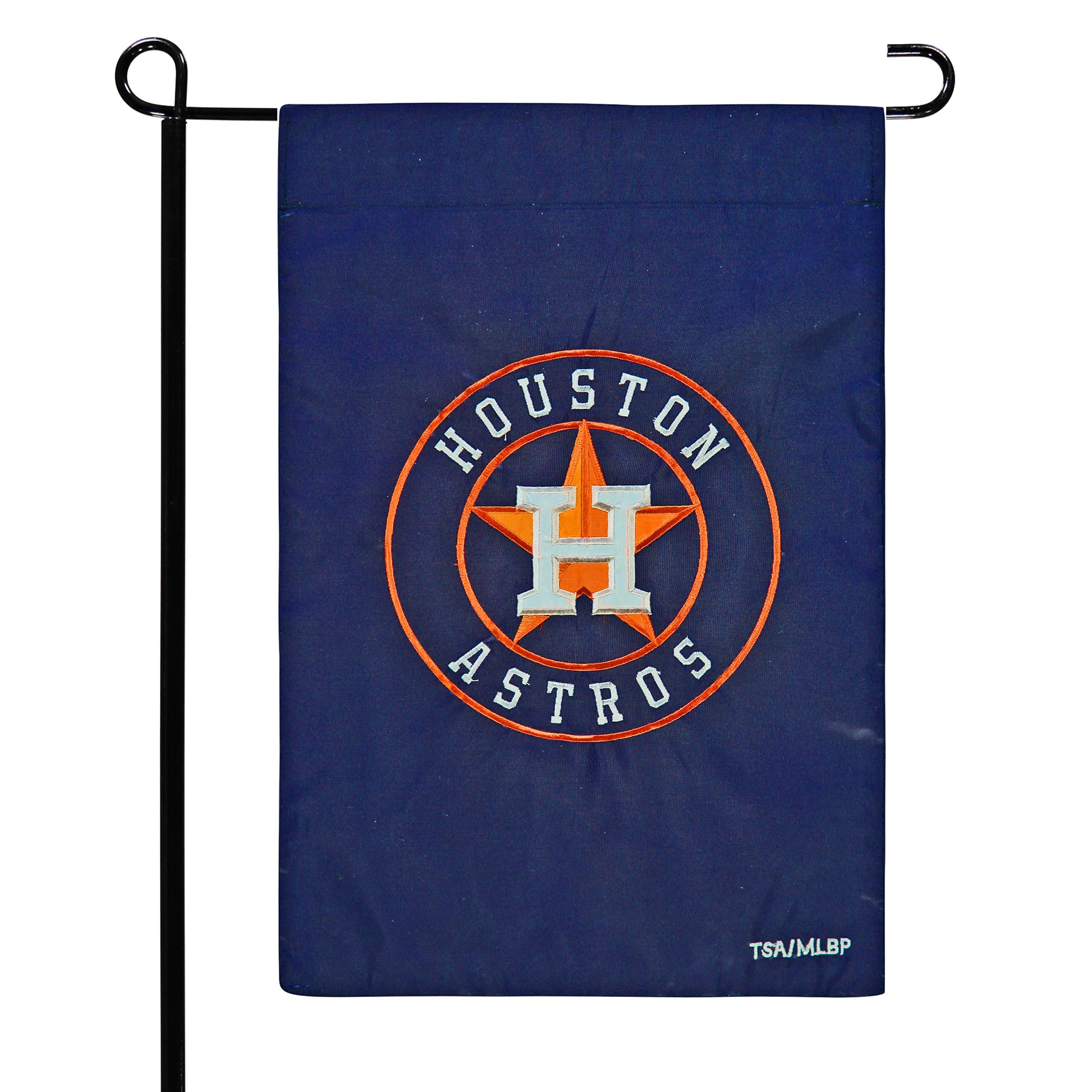 "Houston Astros 12.5"" x 19"" Applique Double-Sided Garden Flag"