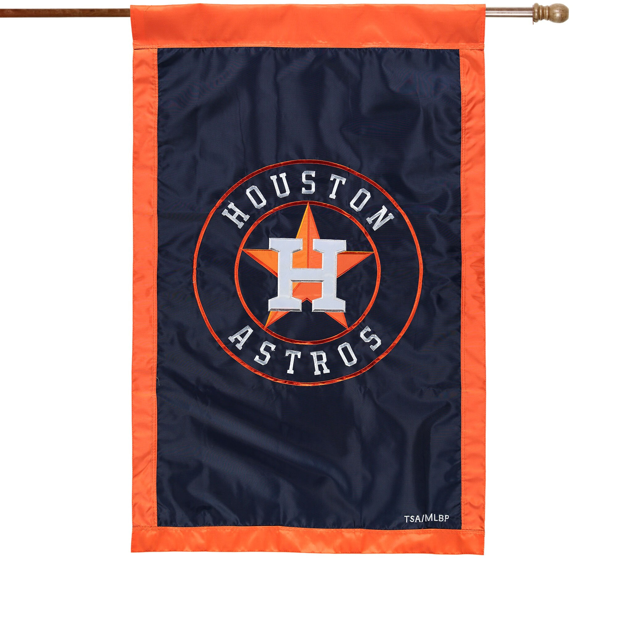 "Houston Astros 28"" x 44"" Applique Double-Sided House Flag"