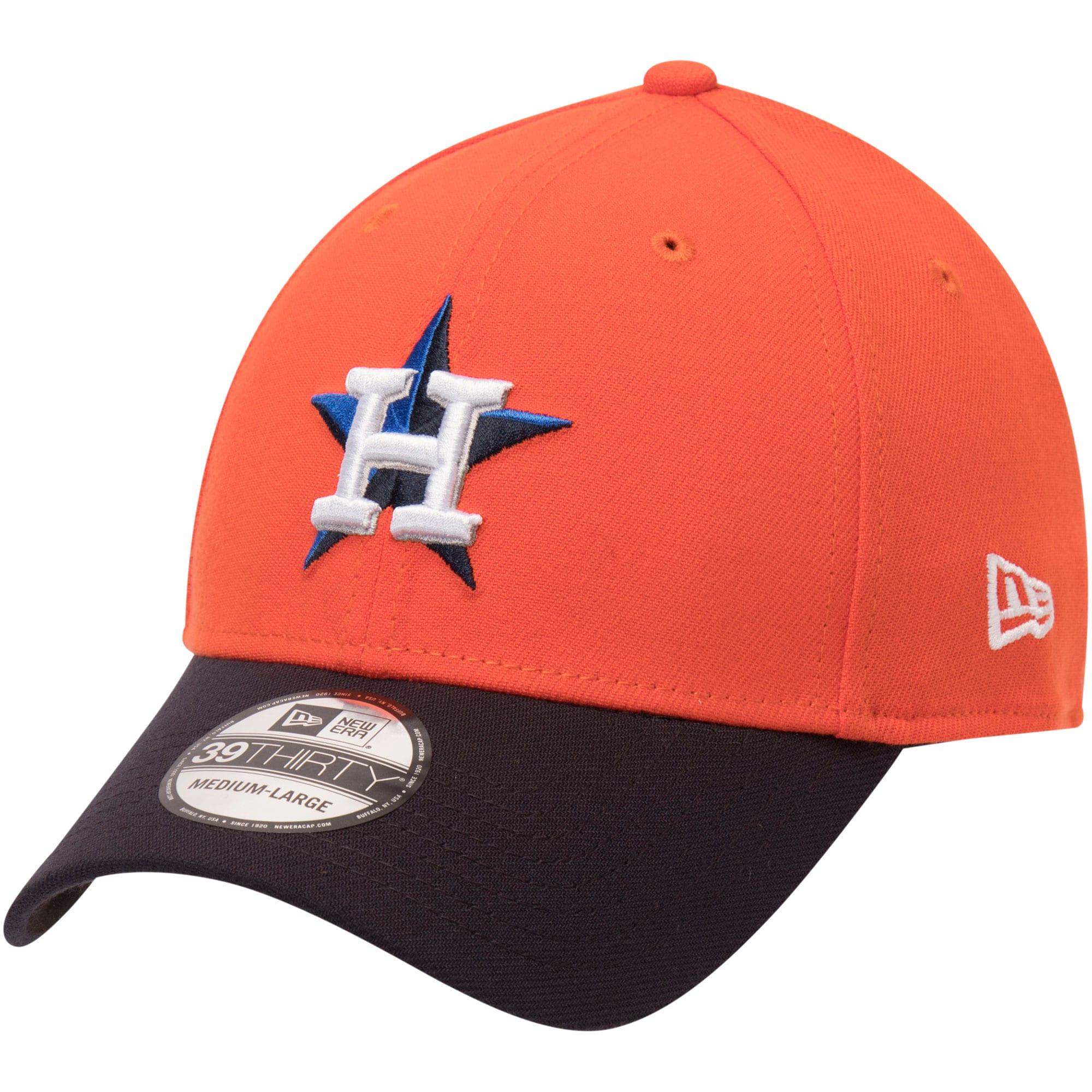 Houston Astros New Era Alternate Team Classic 39THIRTY Flex Hat - Orange/Navy