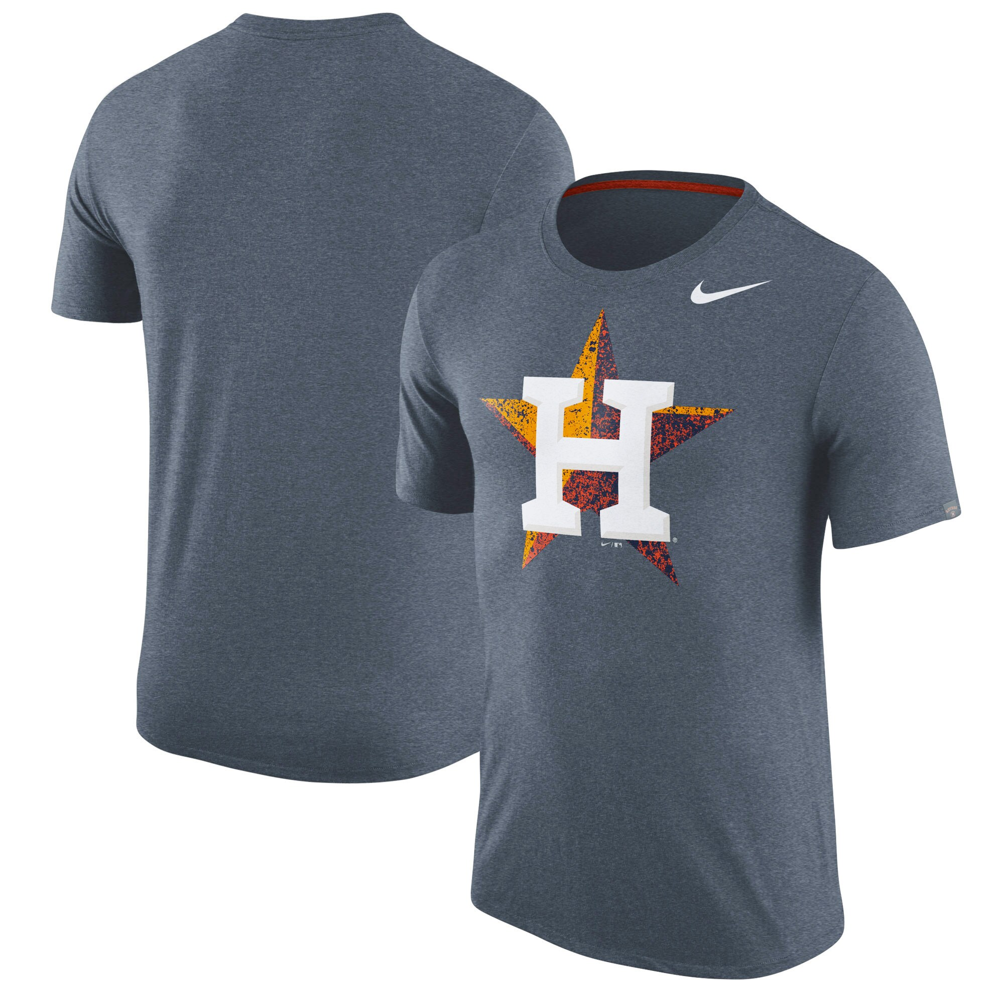 Houston Astros Nike Tri-Blend T-Shirt - Heathered Navy