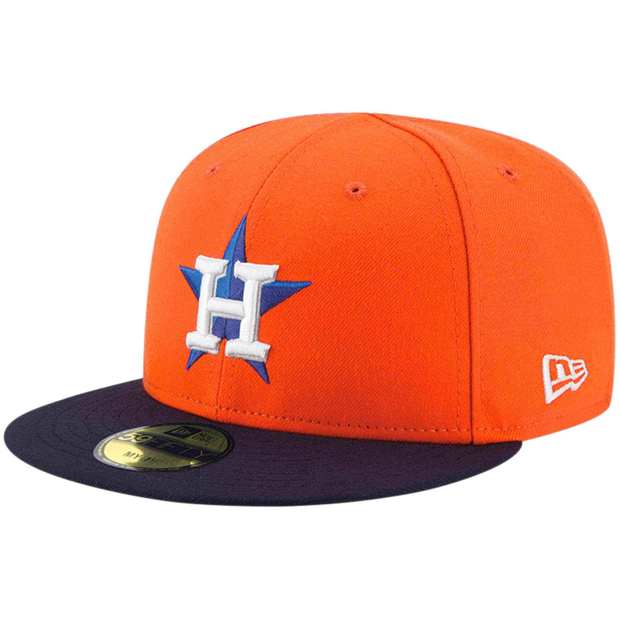 Houston Astros New Era Infant Authentic Collection On-Field My First 59FIFTY Fitted Hat - Orange